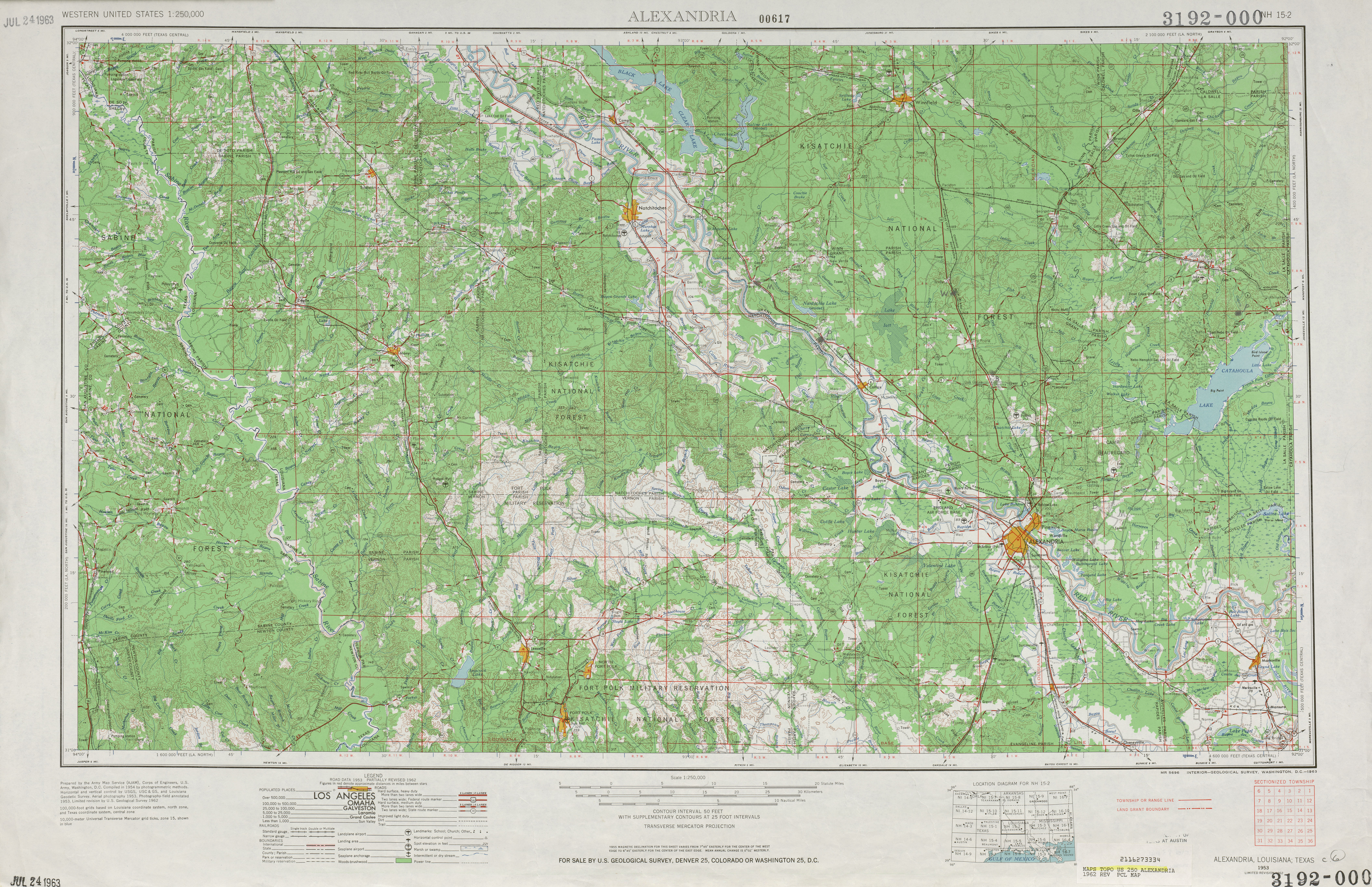 United States Topographic Maps 1:250,000 - Perry-Castañeda Map ...