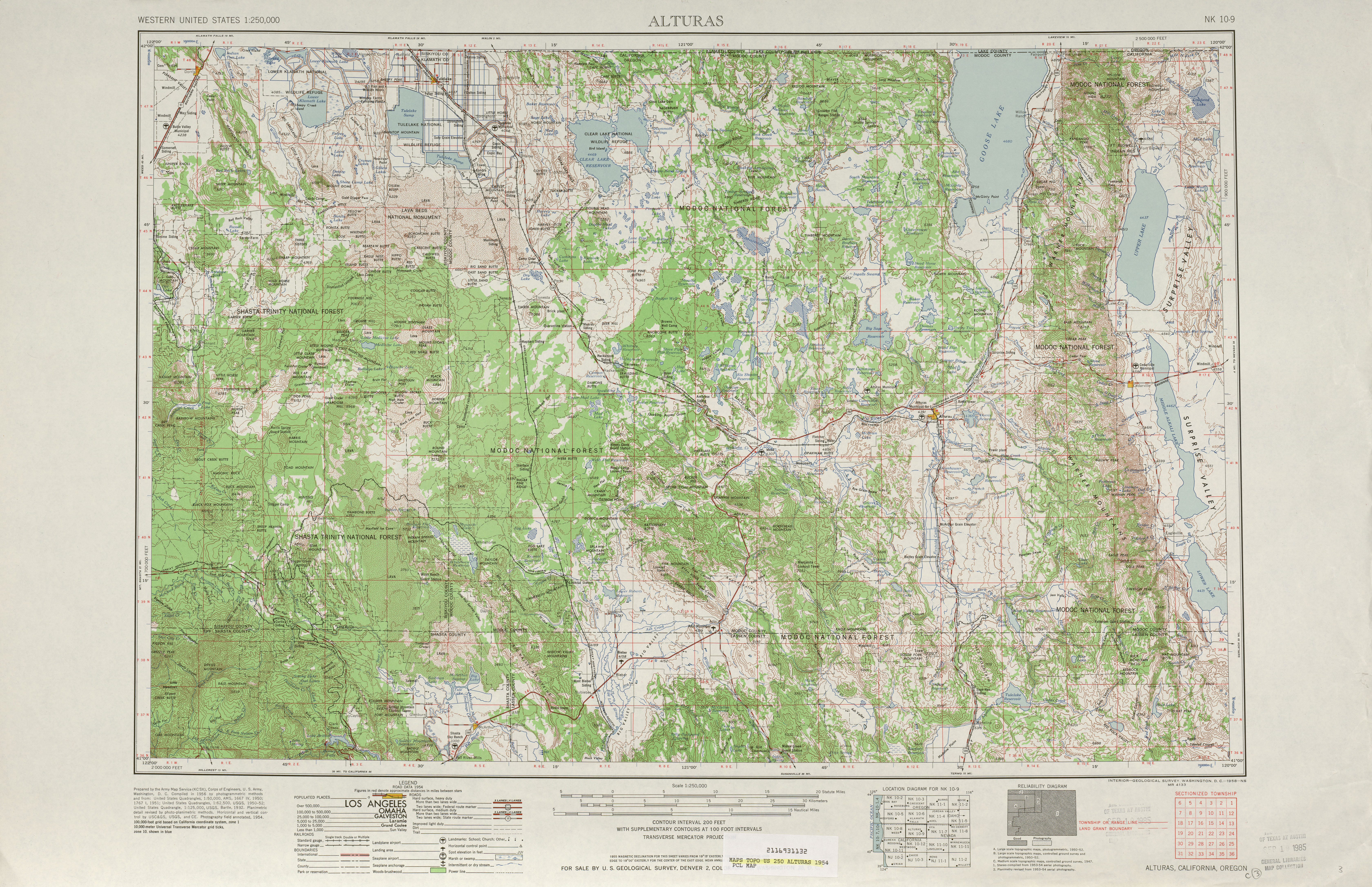 United States Topographic Maps  PerryCastañeda Map - Topographic map of us states