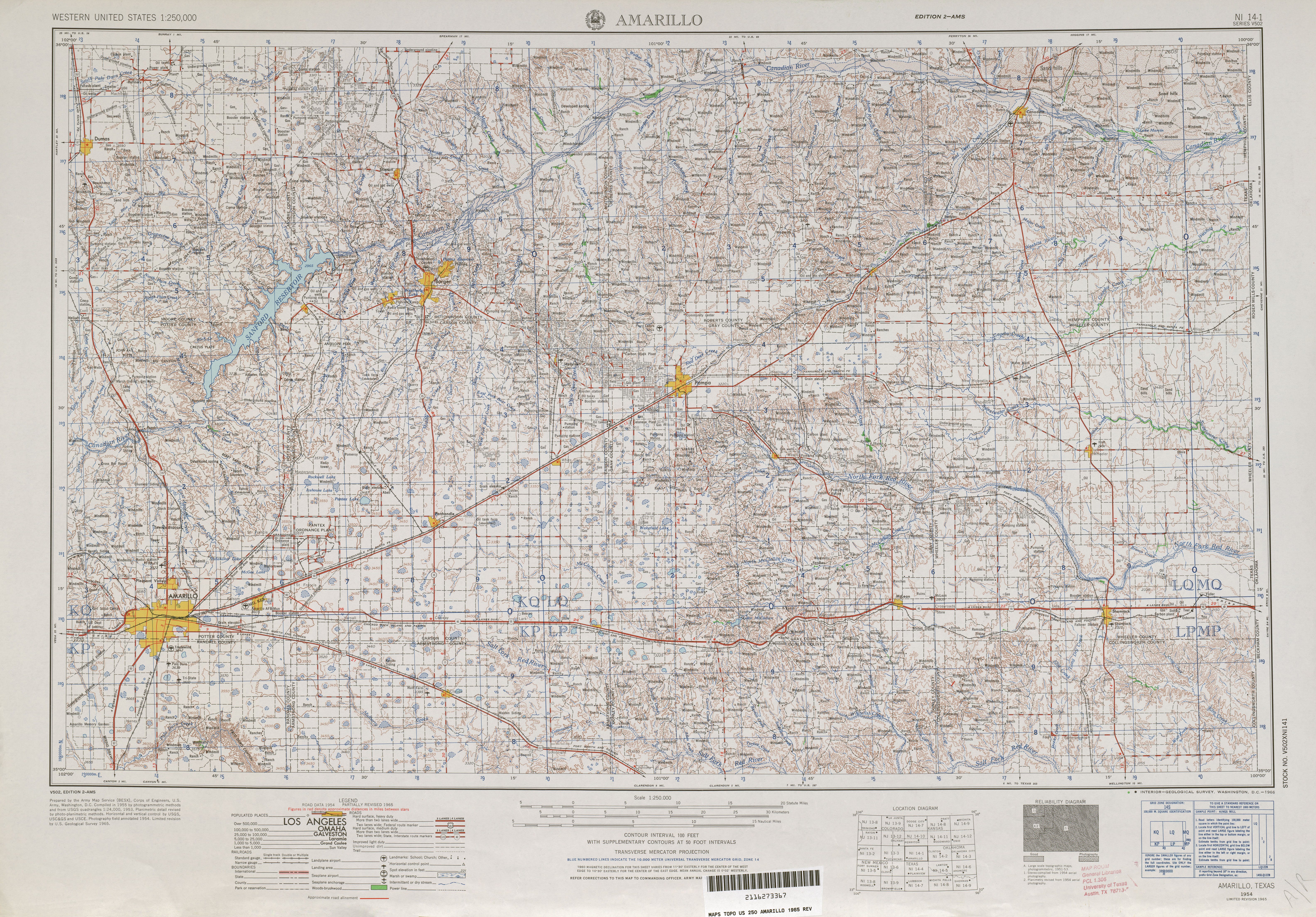 United States Topographic Maps 1250000 Perry Castaneda Map - Tulsa-on-us-map