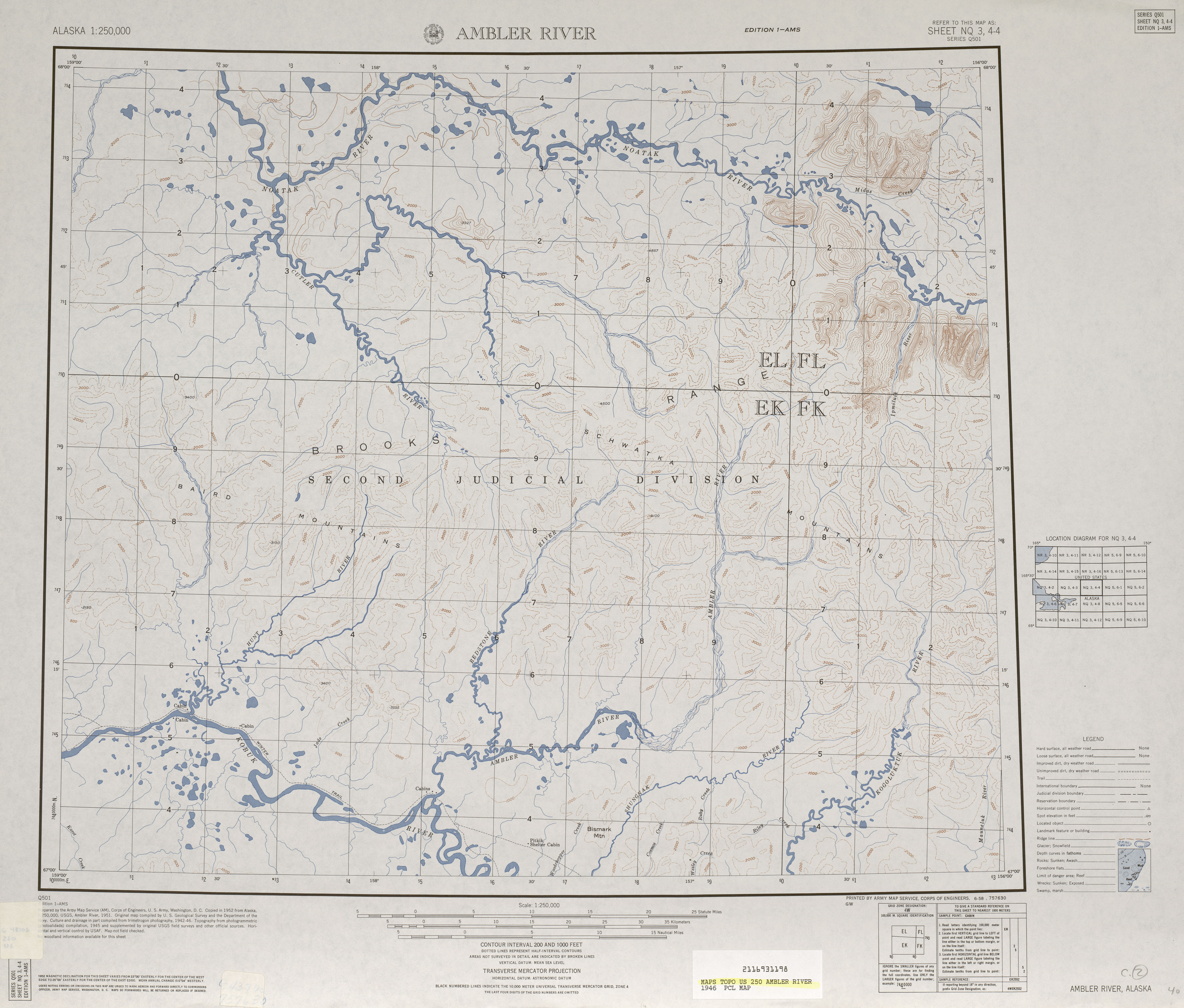 Alaska Topographic Maps Perry Castaneda Map Collection Ut