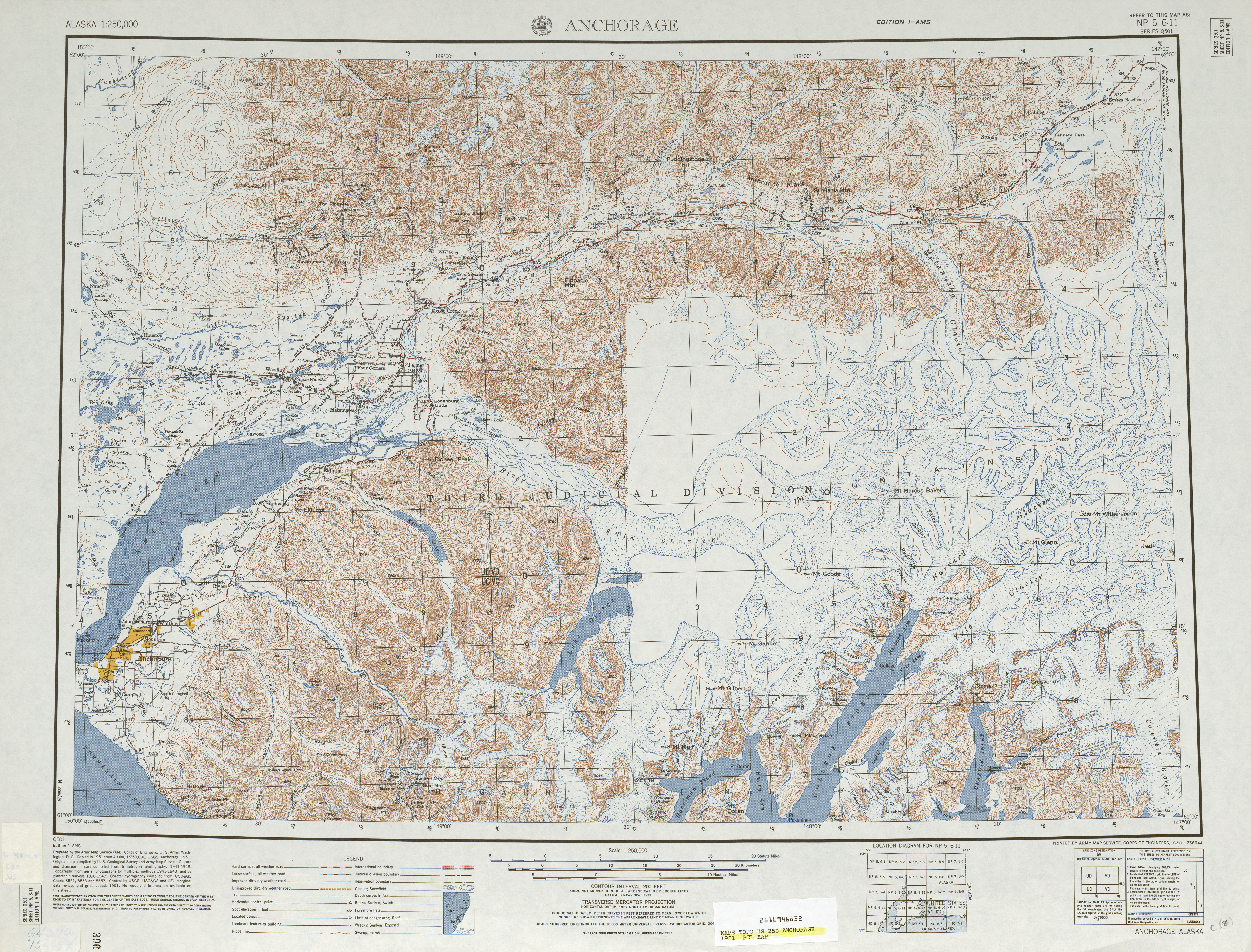Alaska Topographic Maps PerryCastañeda Map Collection UT - Us map and alaska
