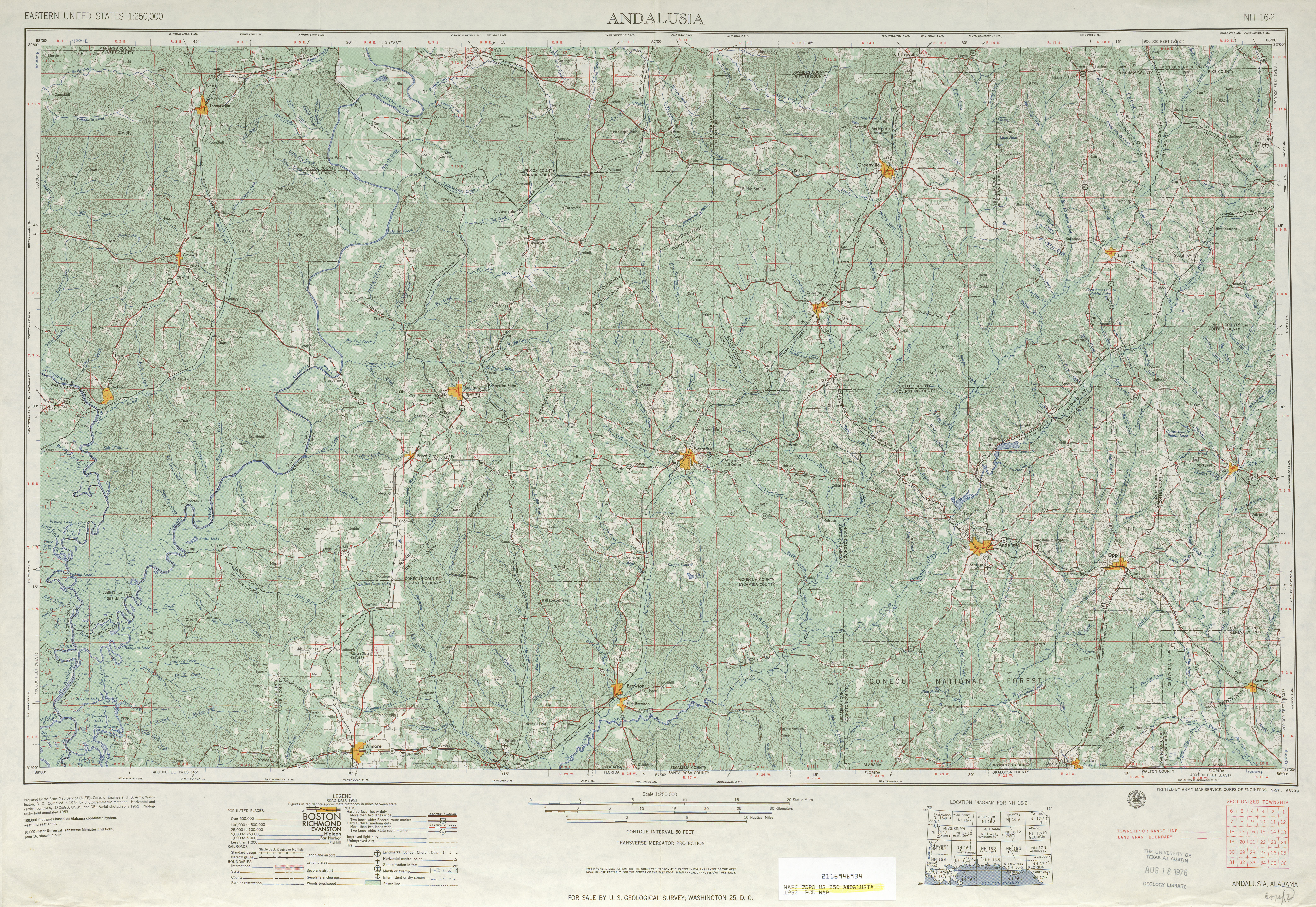 map 50 mb andalusia 1953