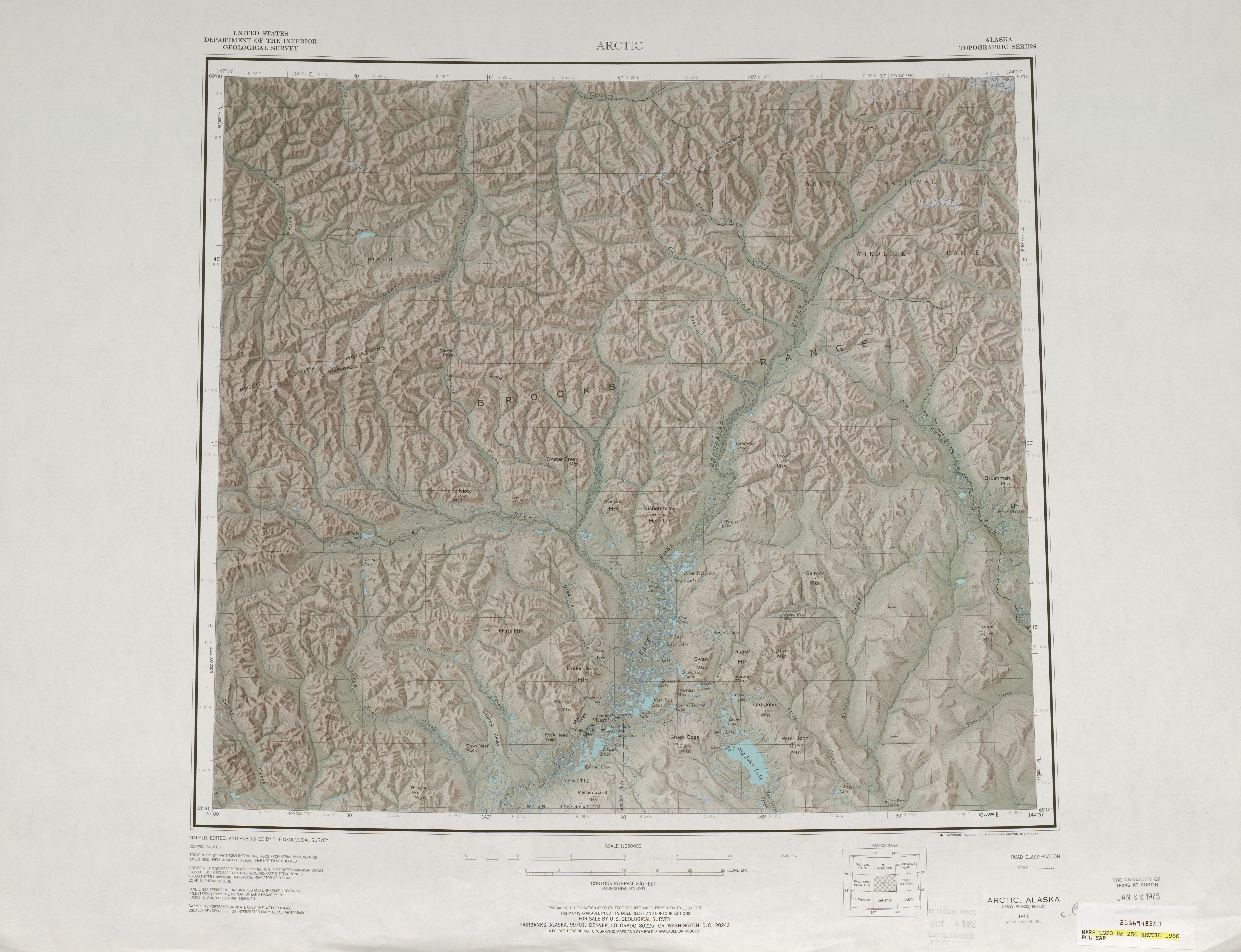 Color art printing anchorage - Alaska Topographic Maps