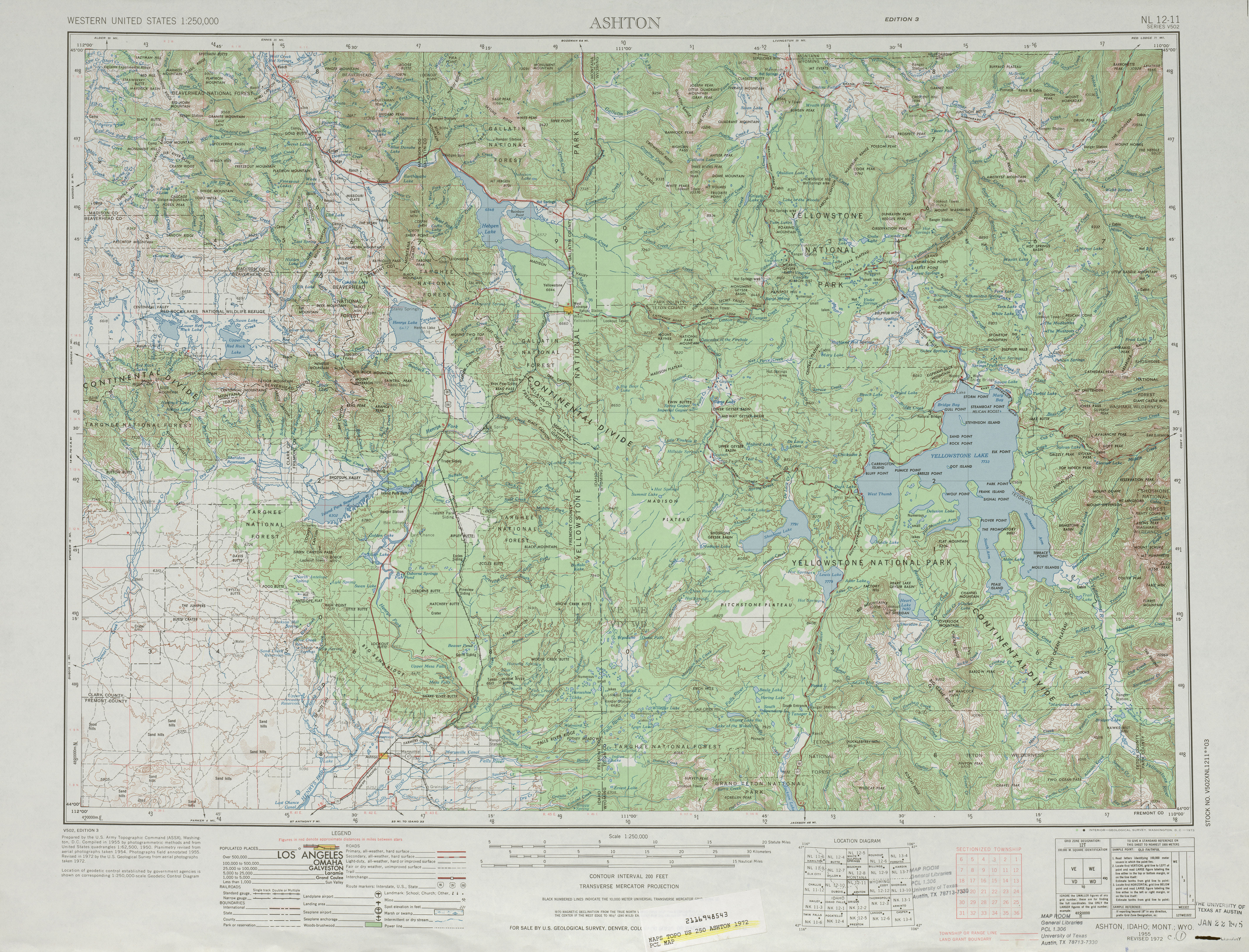 United States Topographic Maps 1250000 PerryCastaeda Map