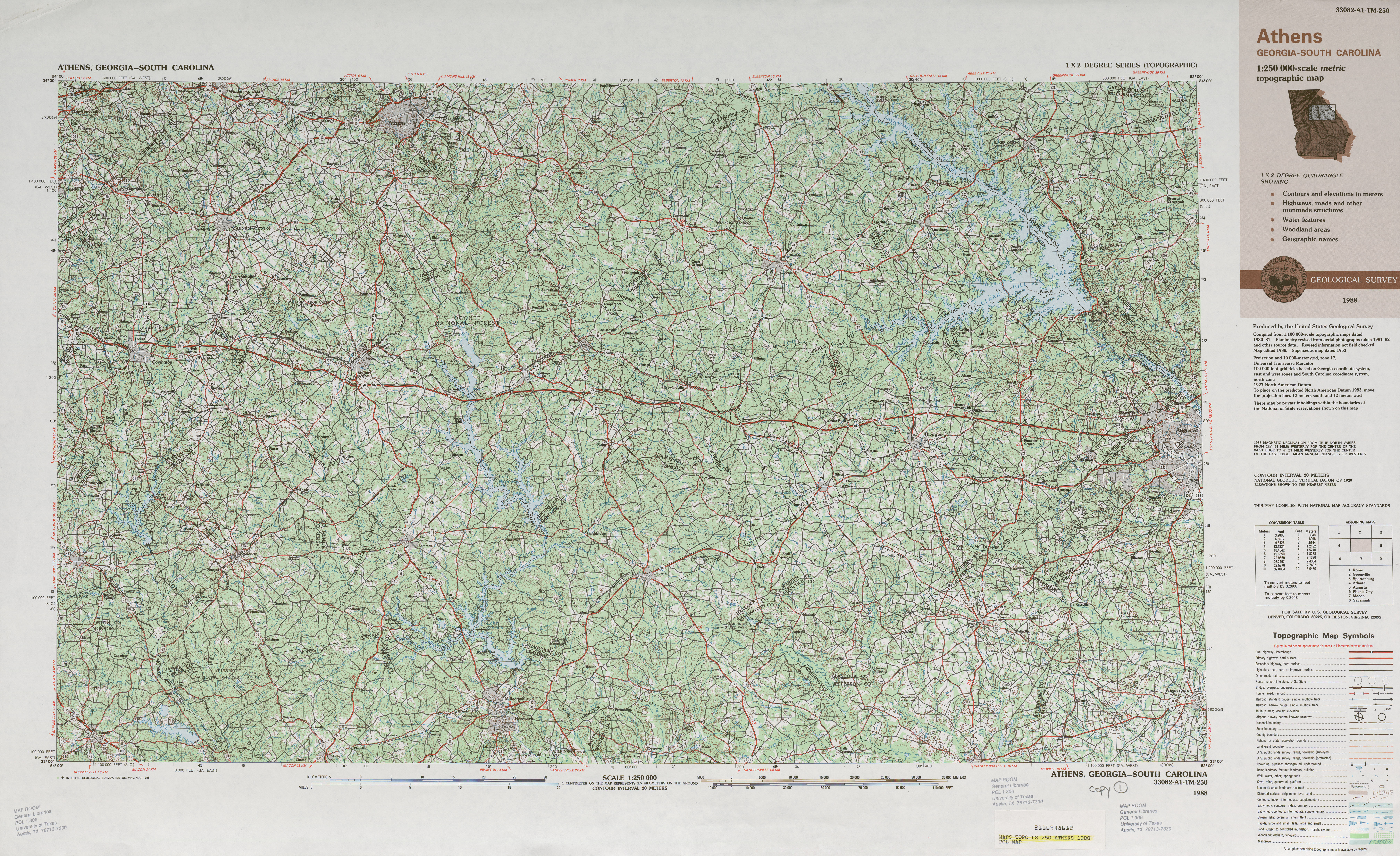 Topographical Maps Of Georgia Usa Maps Of United States Atlanta - Contiguous us hillshade map