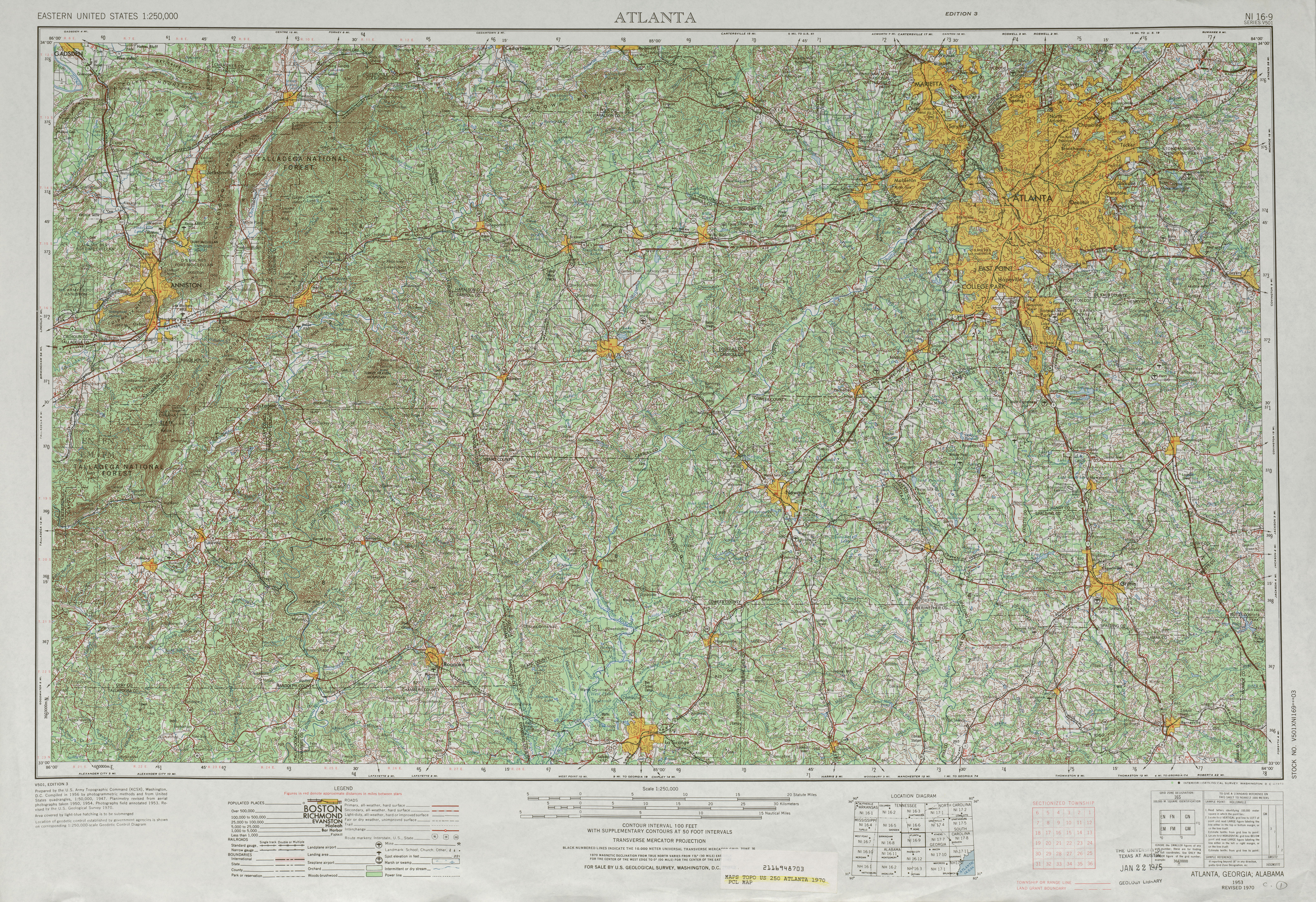 Georgia Historical Topographic Maps PerryCastaeda Map