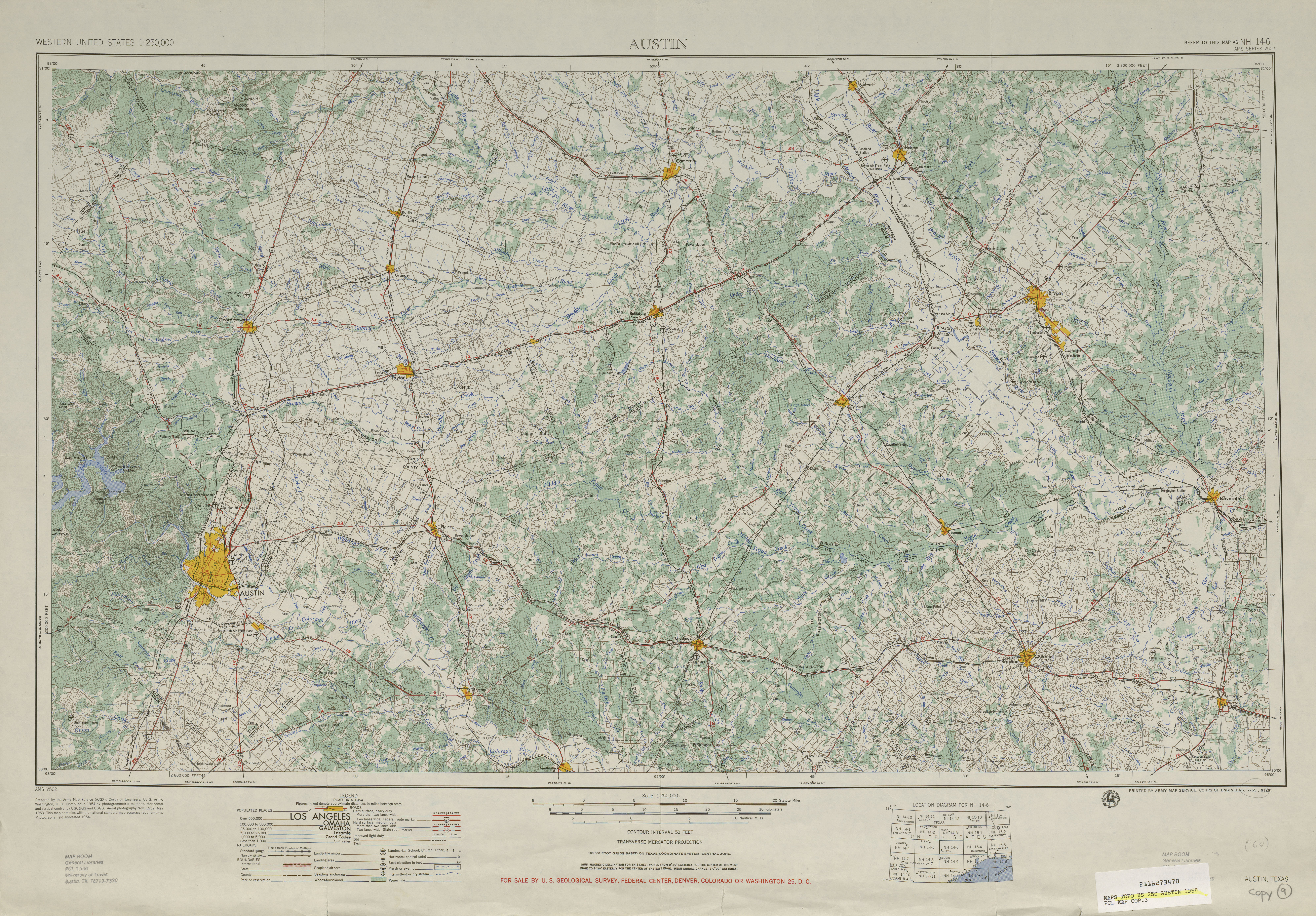 Austin Texas Topographic Maps PerryCastañeda Map Collection - Us interactive topo map