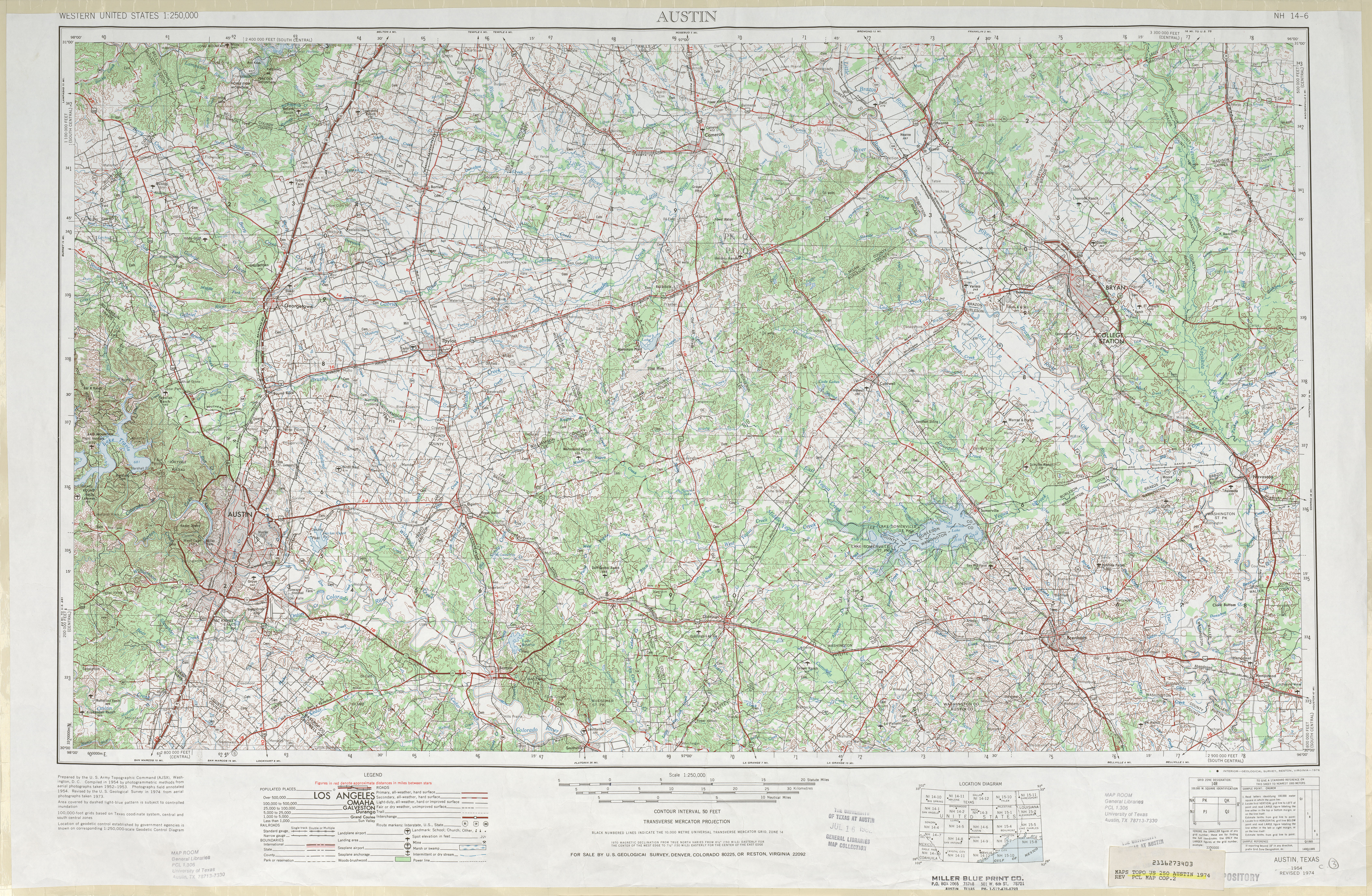 Austin Texas Topographic Maps PerryCastañeda Map Collection - Us topographic map elevations