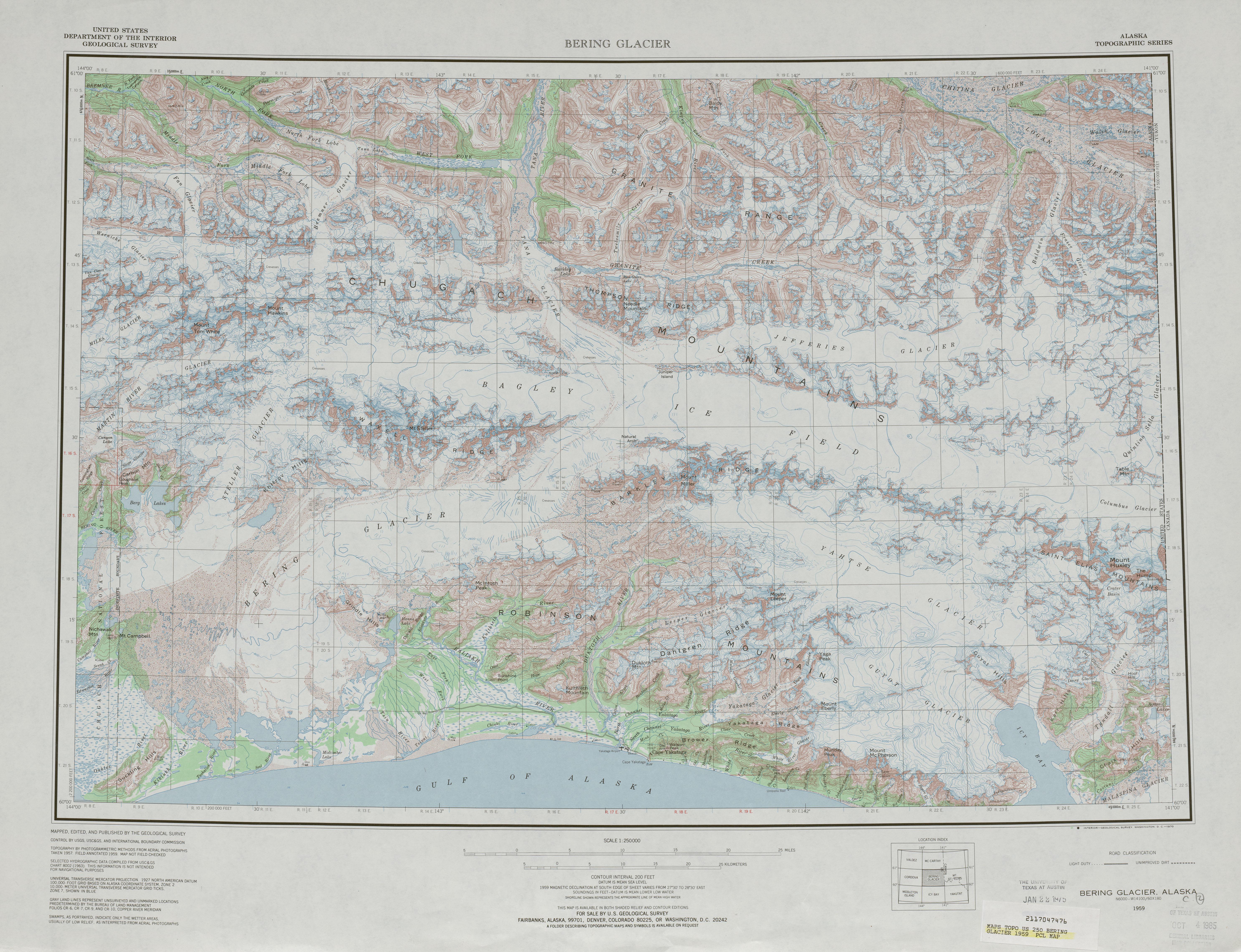 Alaska Topographic Maps PerryCastaeda Map Collection UT
