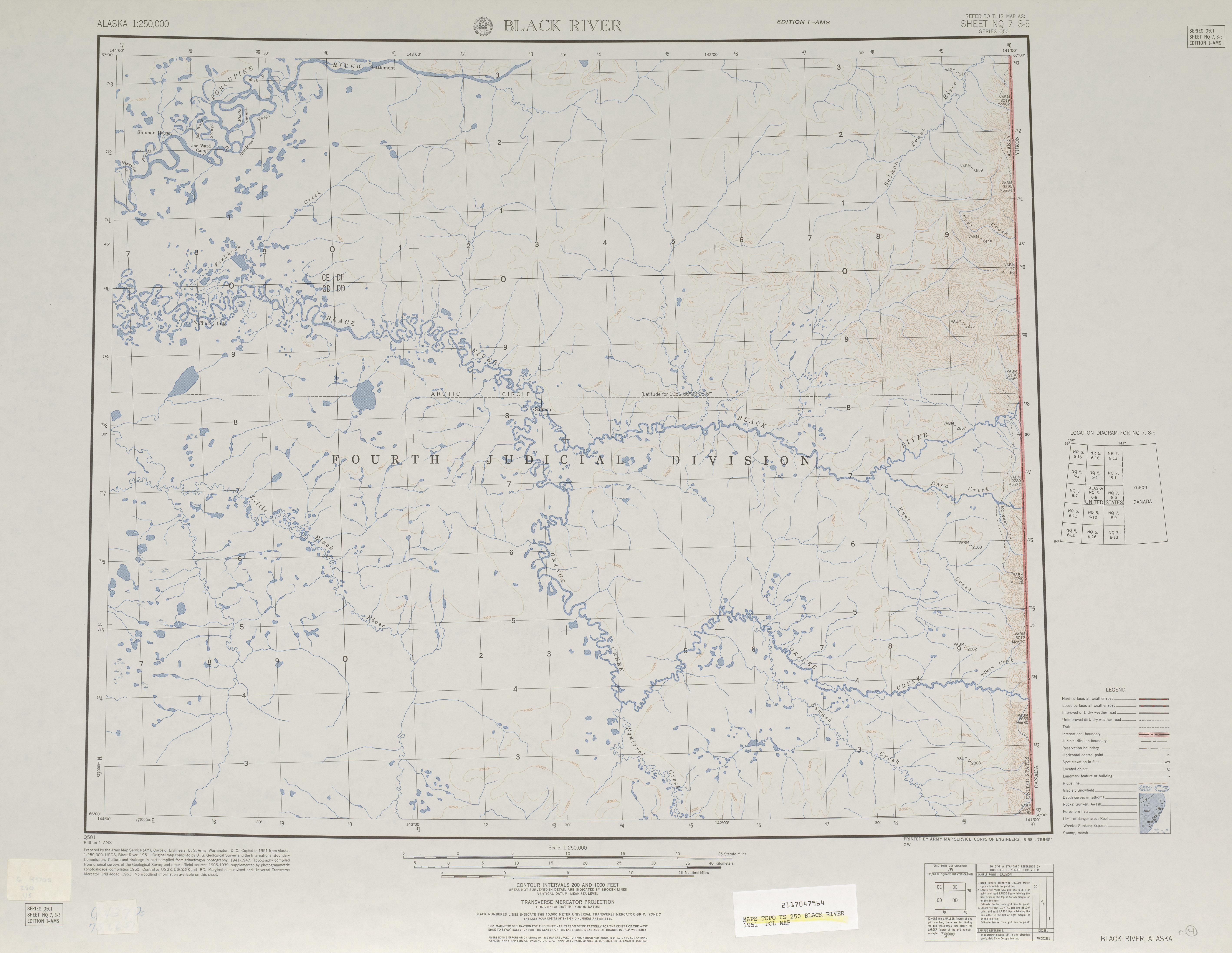 map 25 mb black river 1951