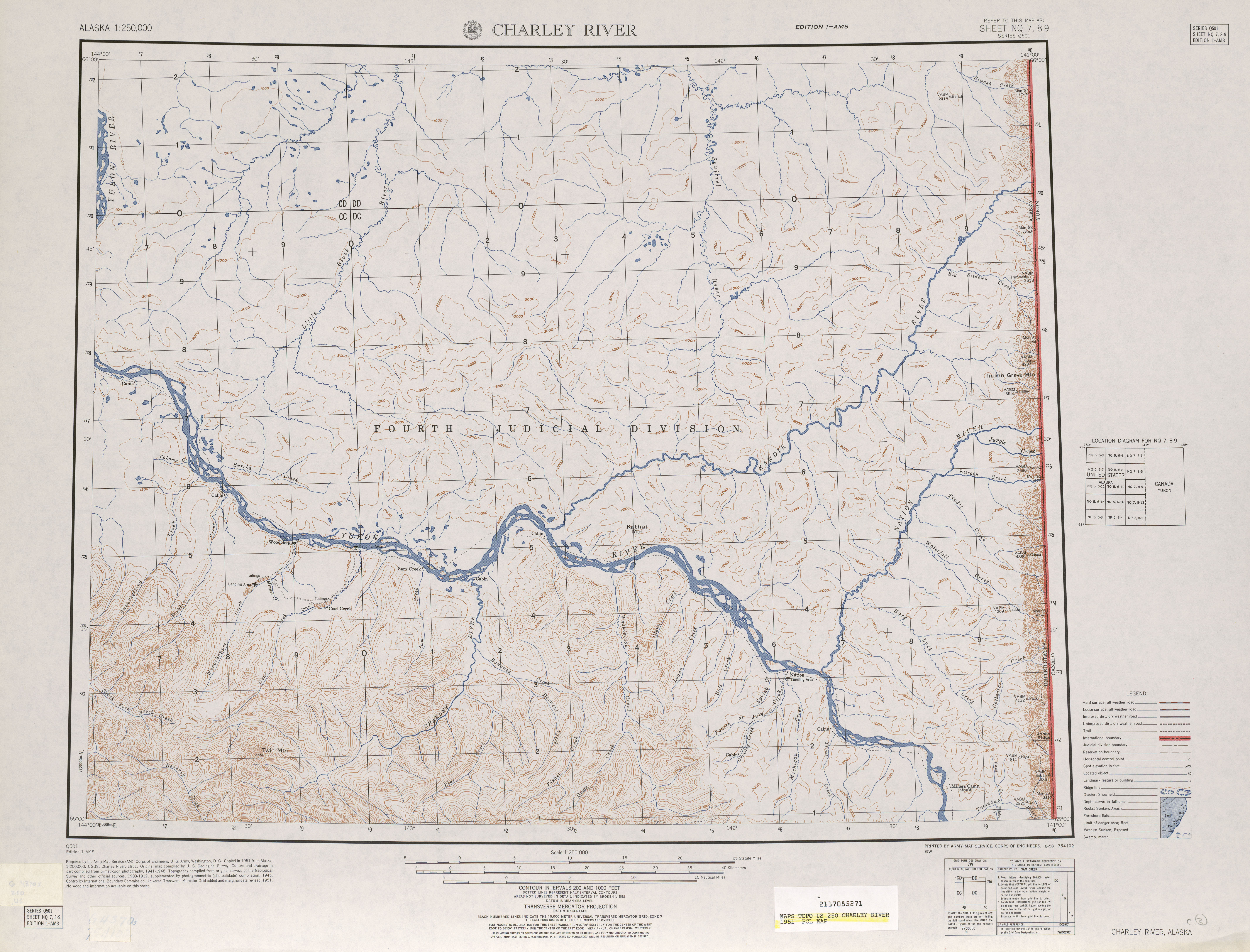 map 57 mb charley river 1951