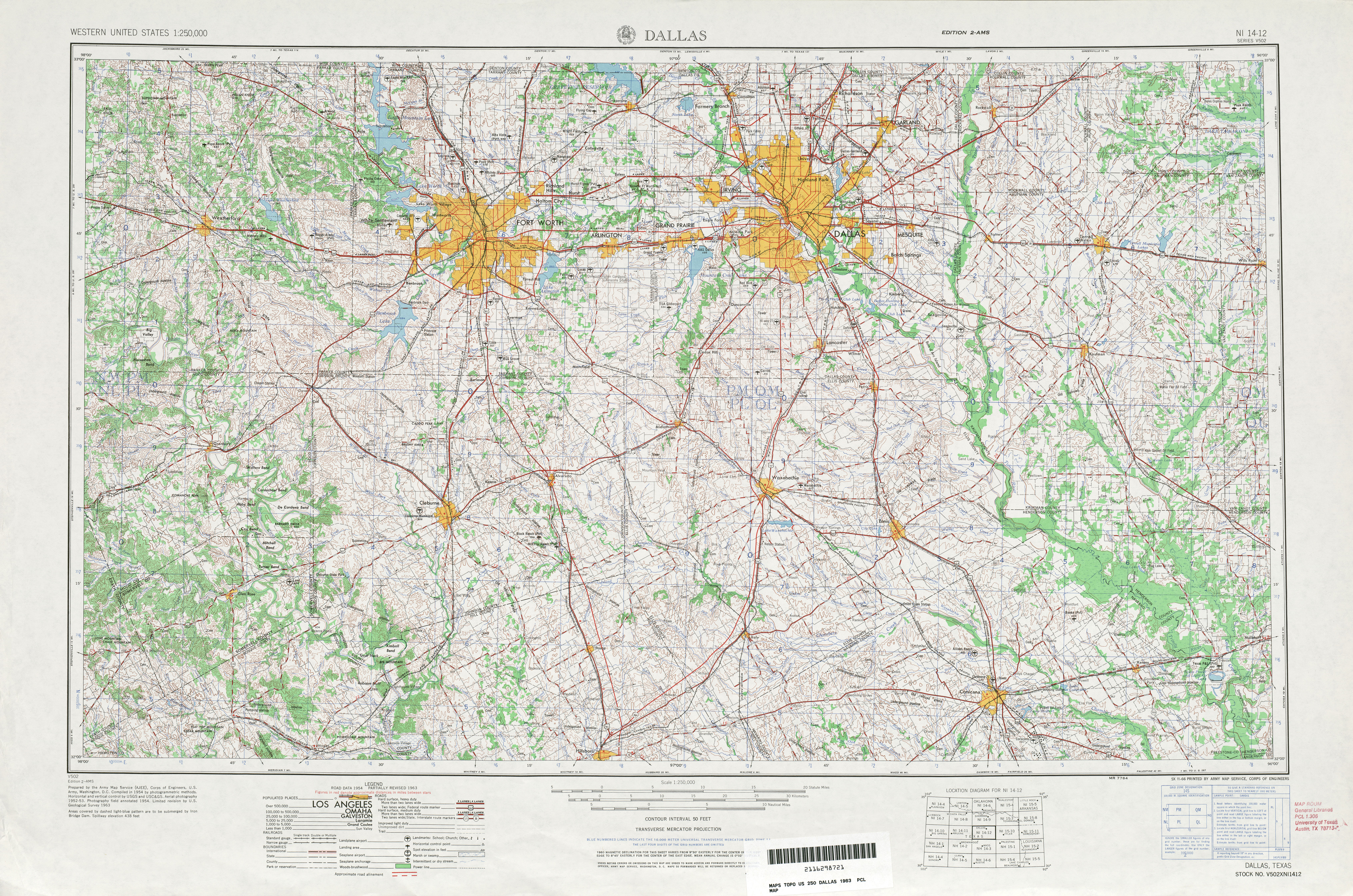 Texas Topographic Maps PerryCastañeda Map Collection UT - Us map dallas