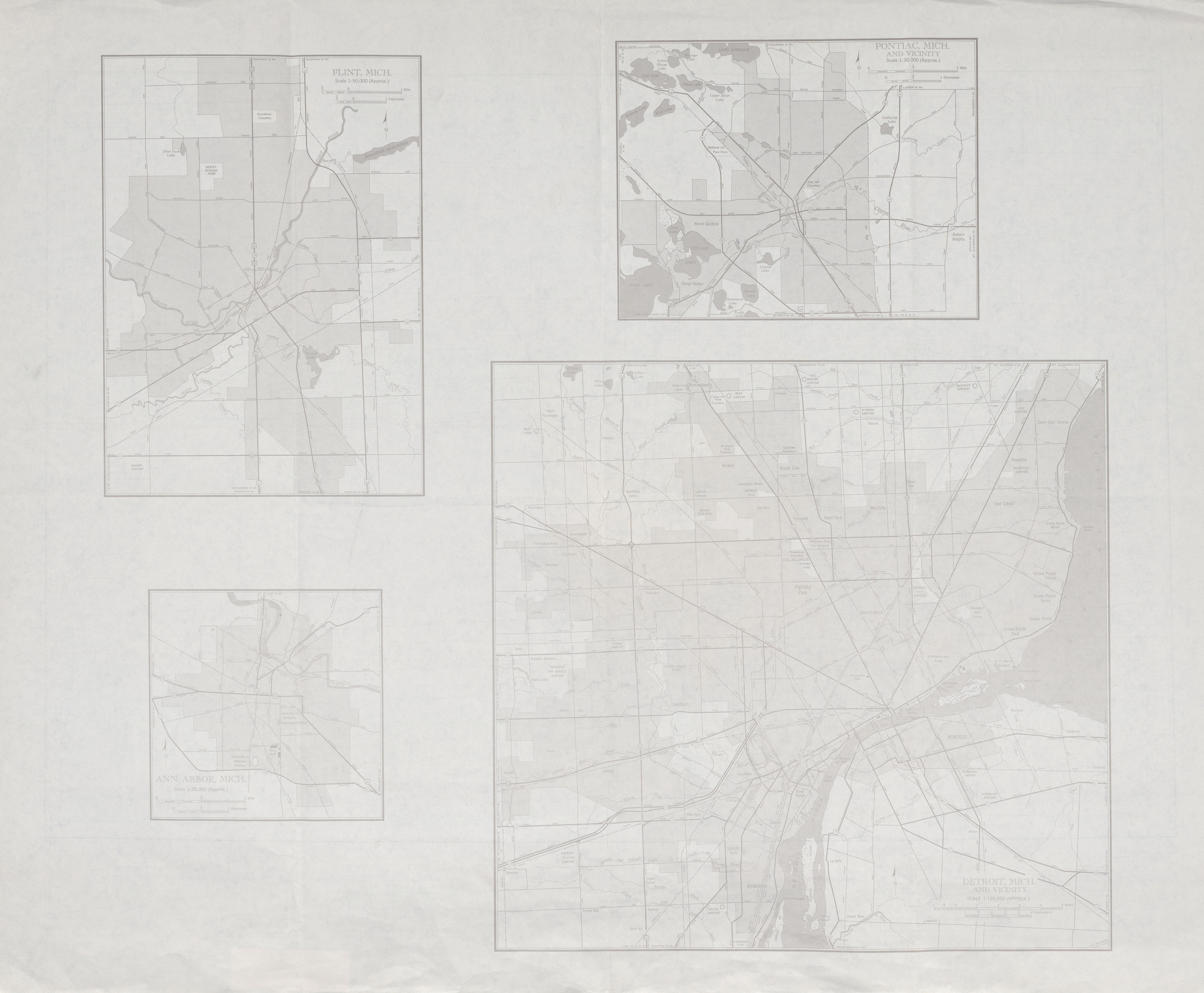 Maps Us Map Detroit - Detroit on us map