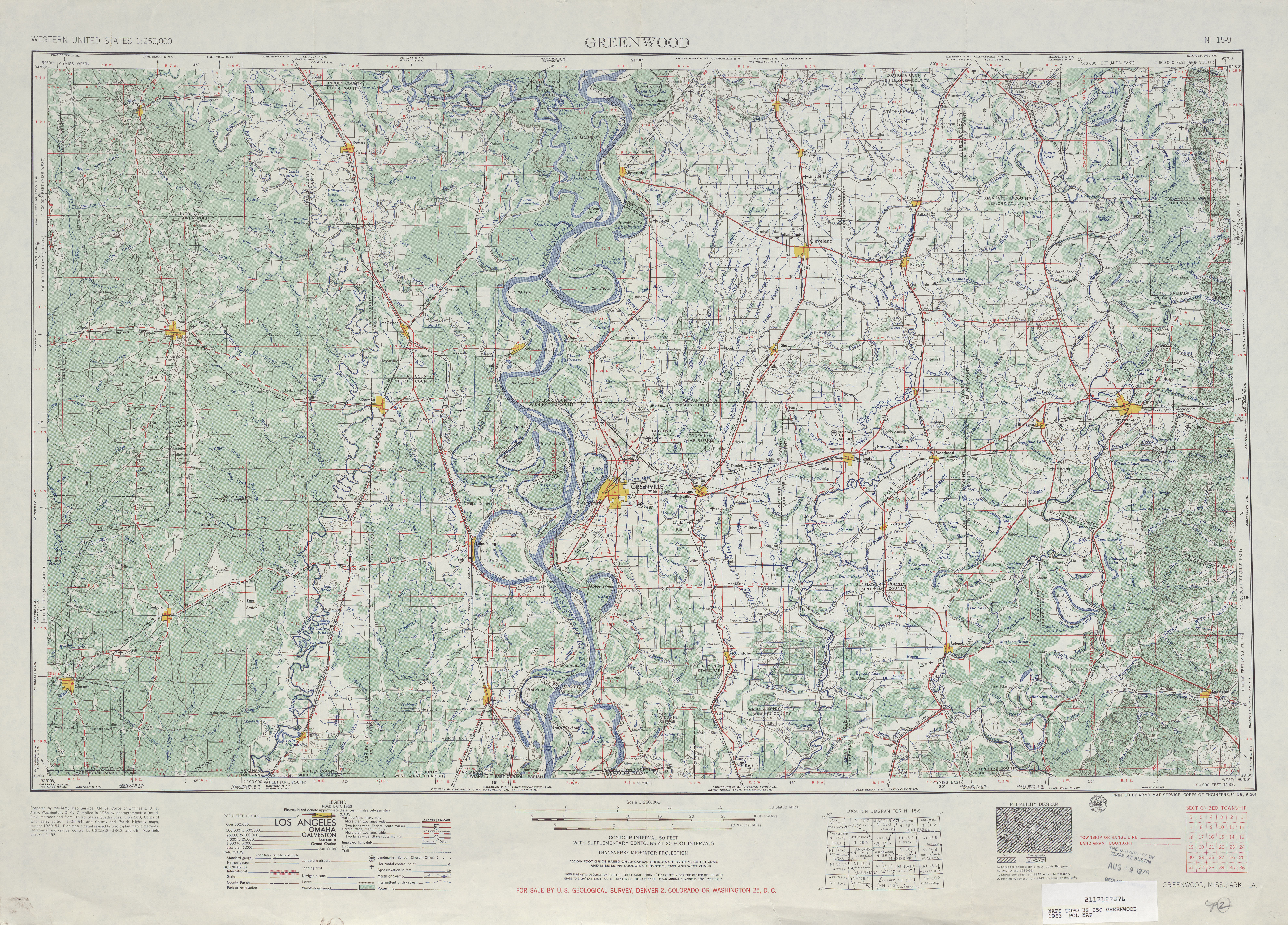 Mississippi Topographic Maps PerryCastañeda Map Collection UT - Us maps for sale