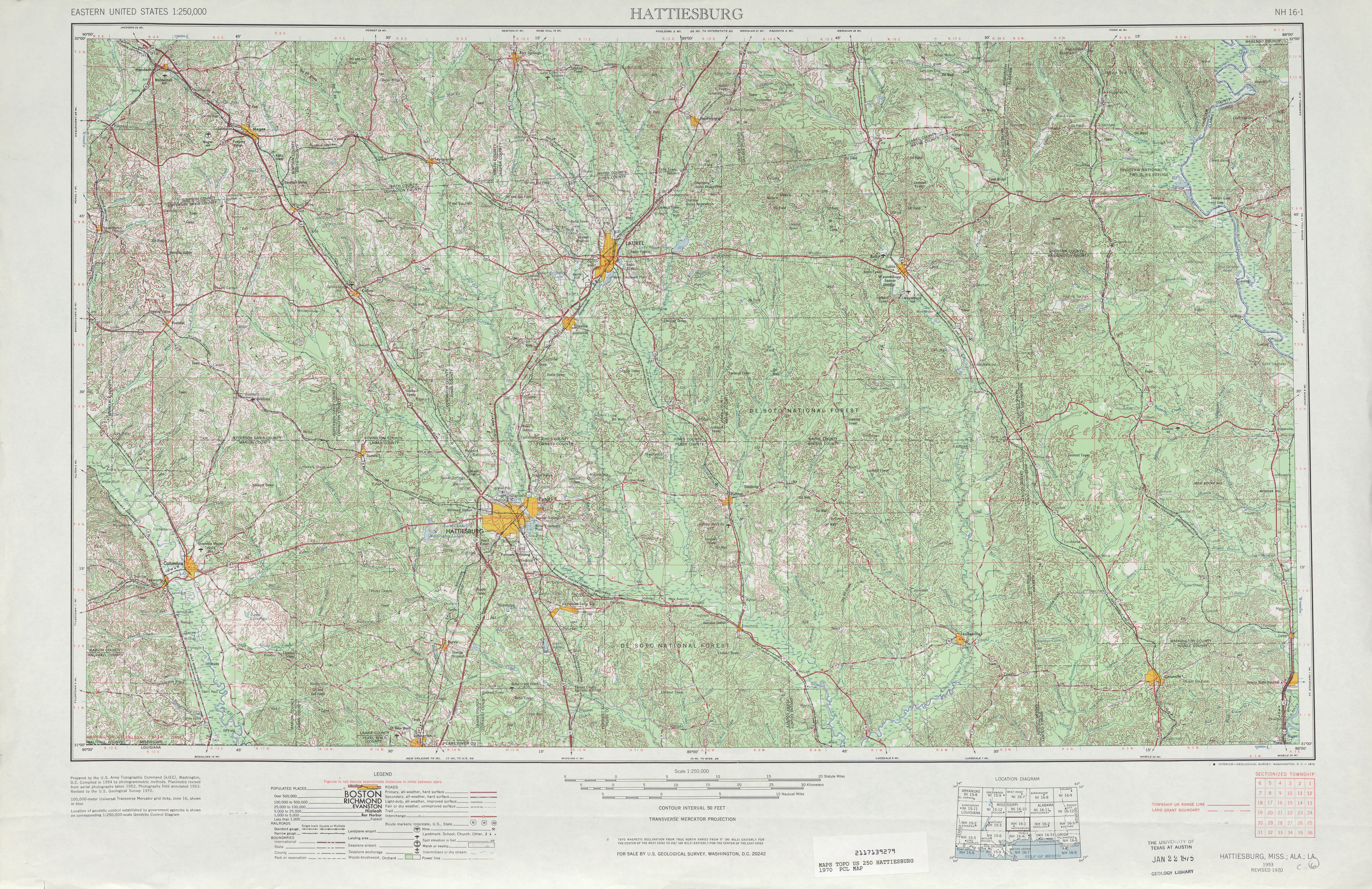 Louisiana Topographic Maps PerryCastañeda Map Collection UT - Topographic map of eastern us