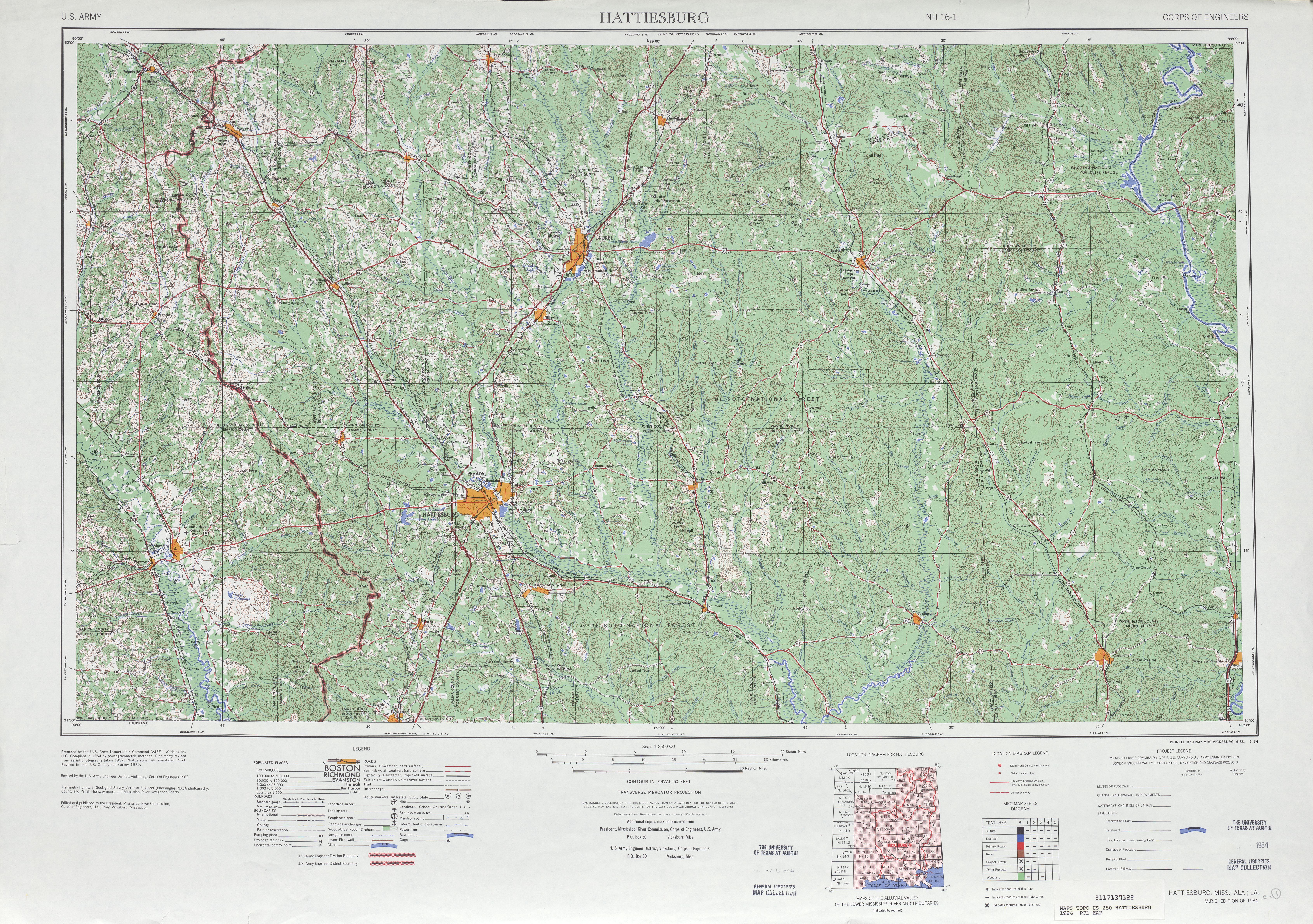 Alabama Louisiana 1 250 000 1984 11 2 Mb