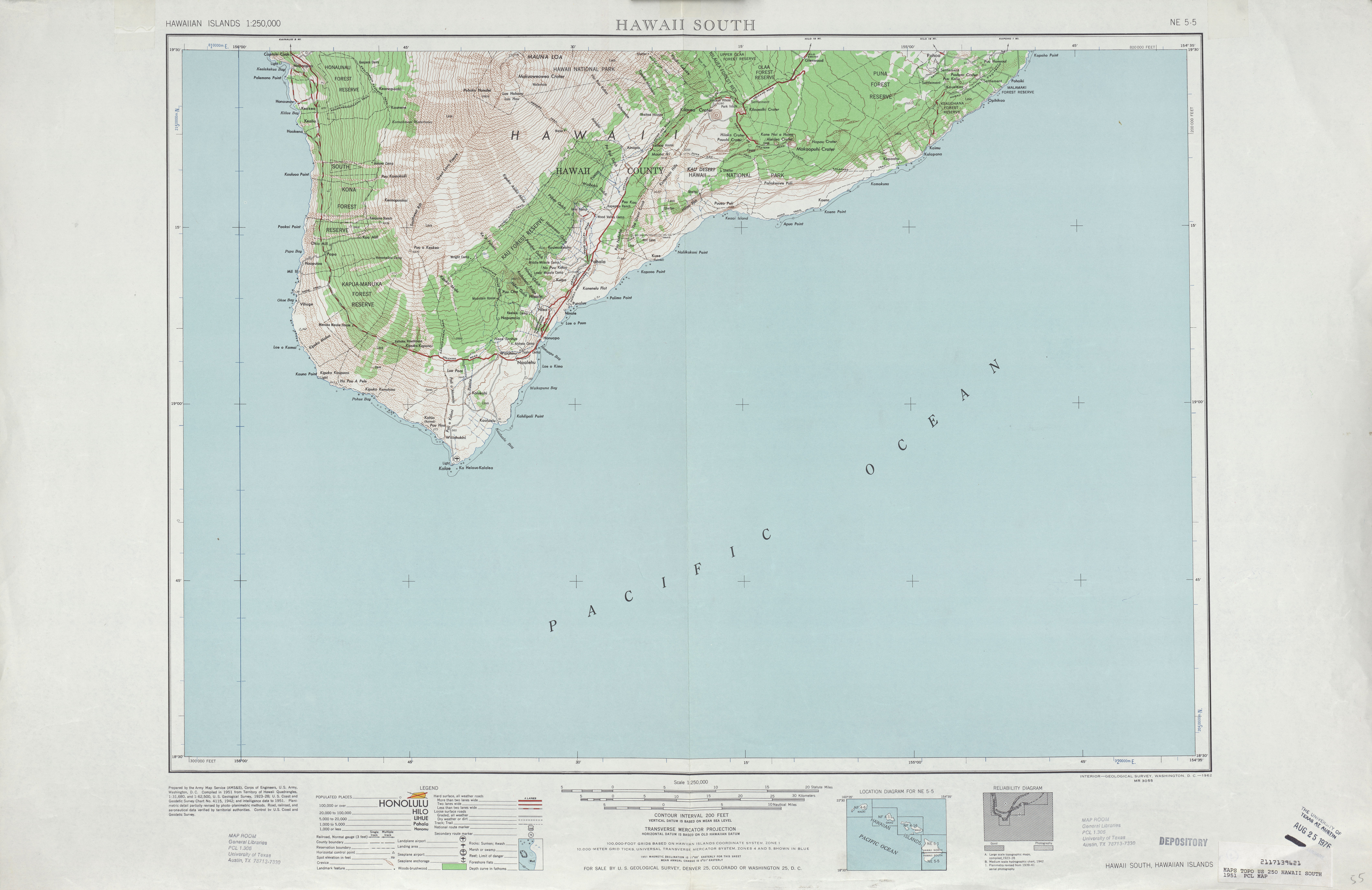 Hawaii Topographic Maps PerryCastañeda Map Collection UT - Hawaii us map