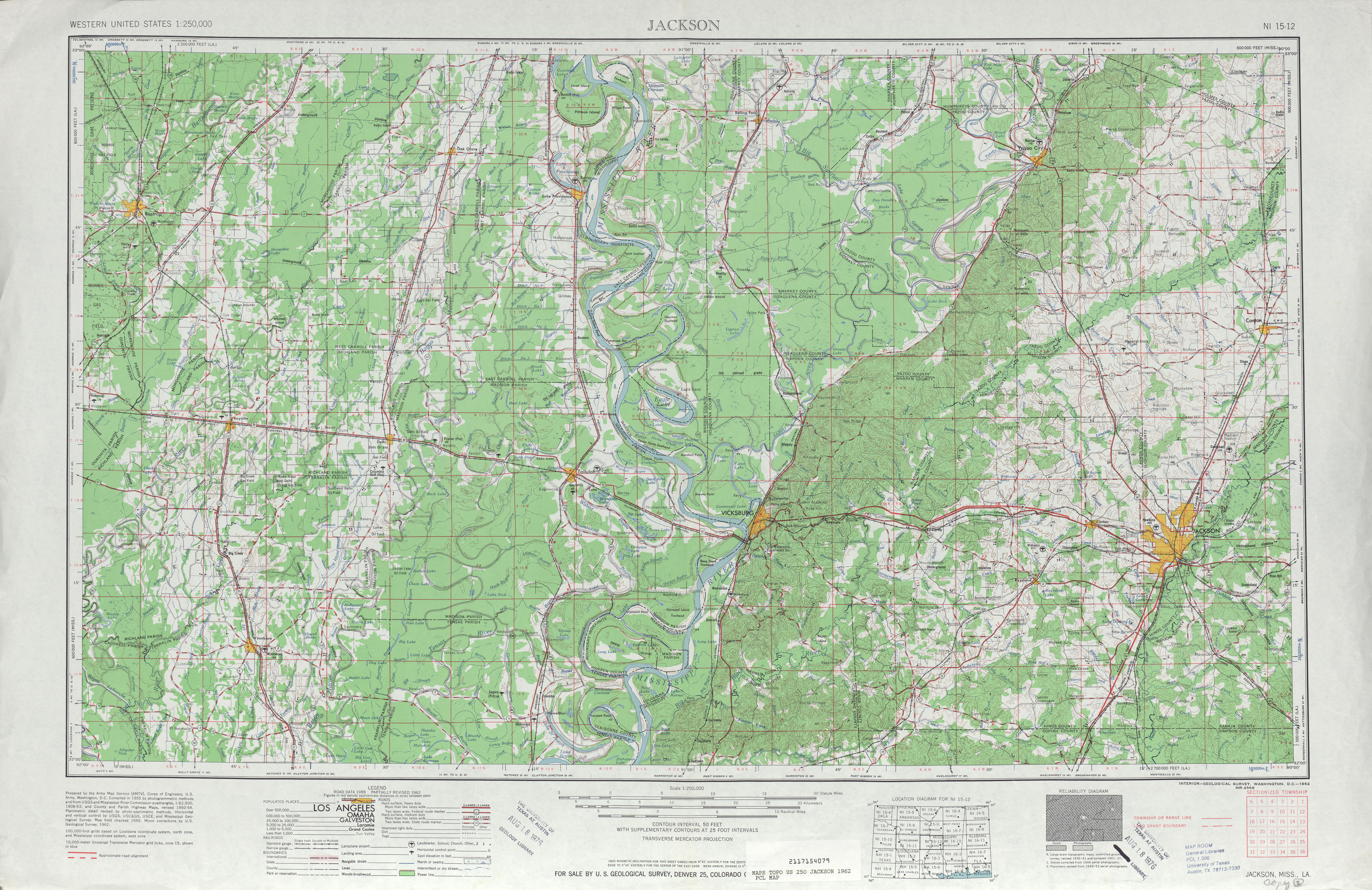 Mississippi Topographic Maps PerryCastañeda Map Collection UT - Los angeles topographic map