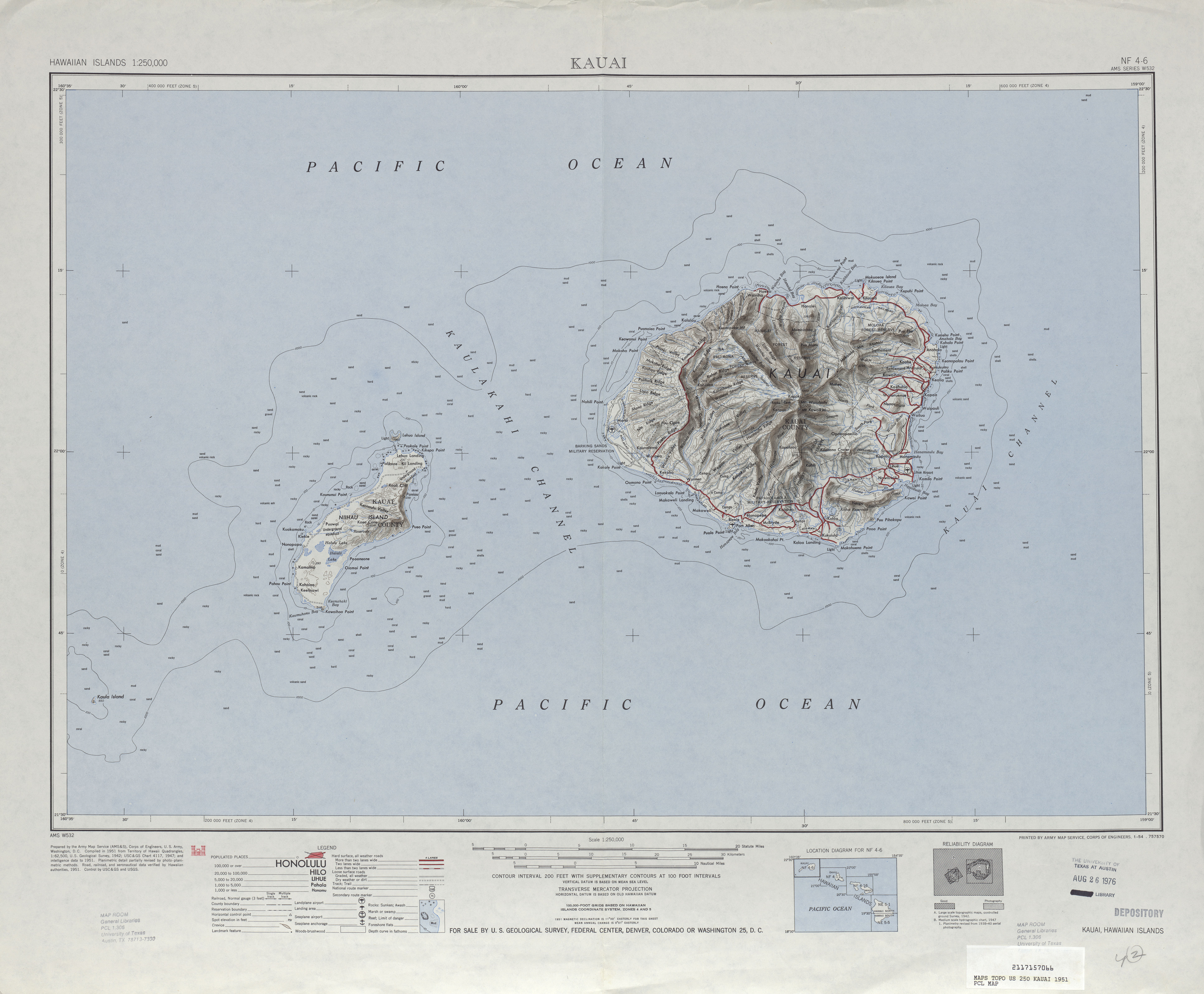 Hawaii Topographic Maps Perry Castaneda Map Collection Ut