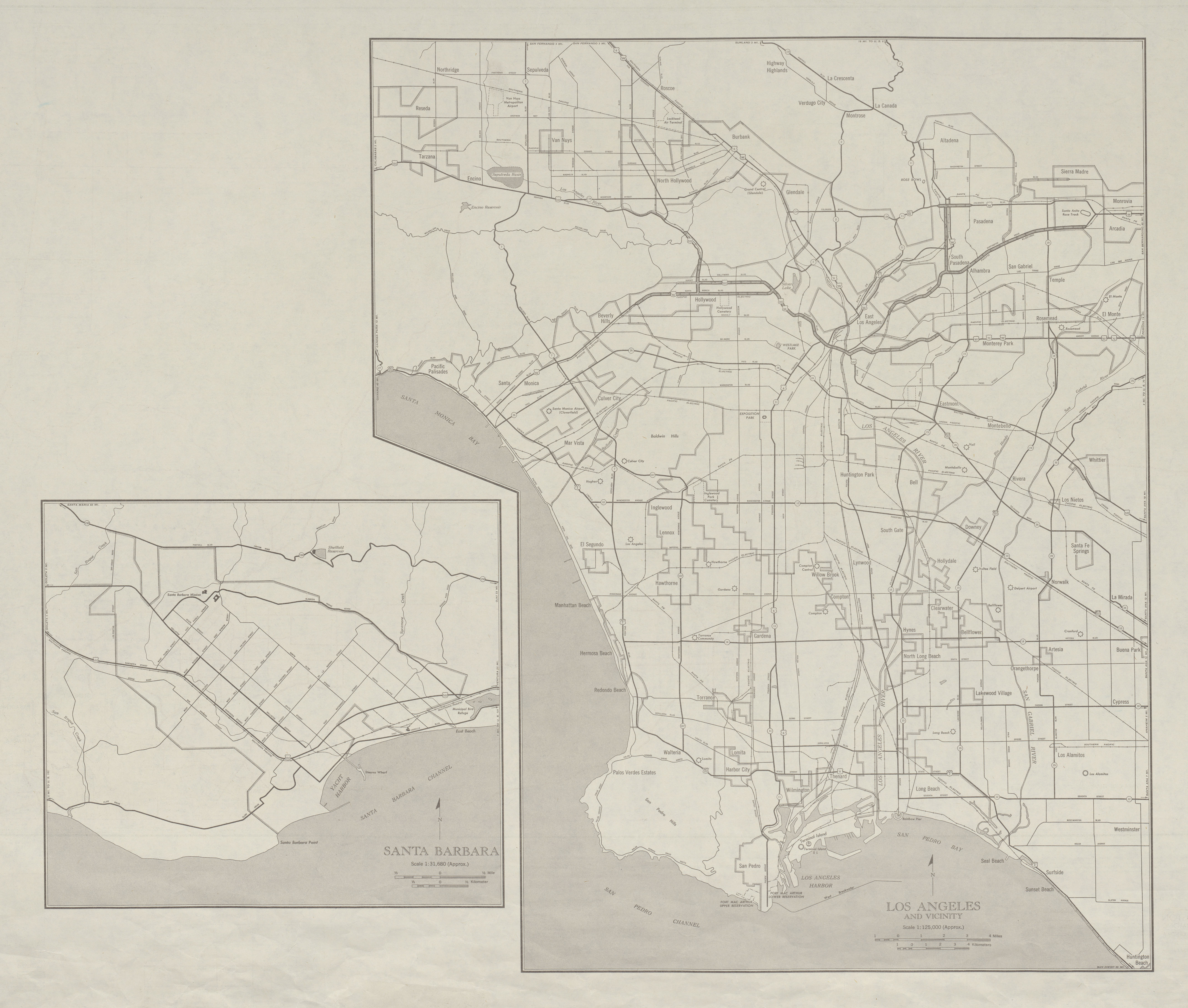 United States Map Los Angeles