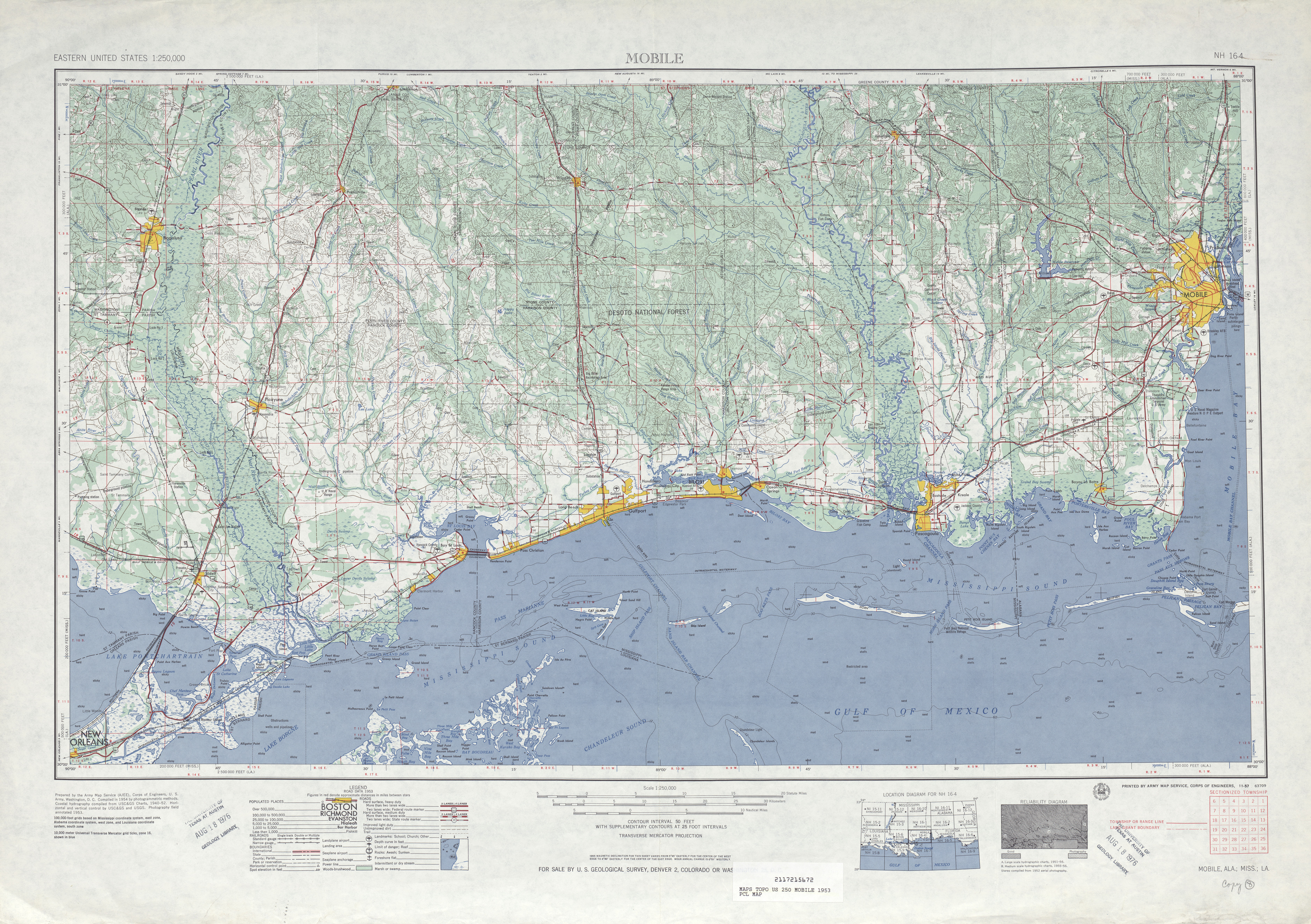 Alabama Topographic Maps PerryCastañeda Map Collection UT - 1 page map of the us