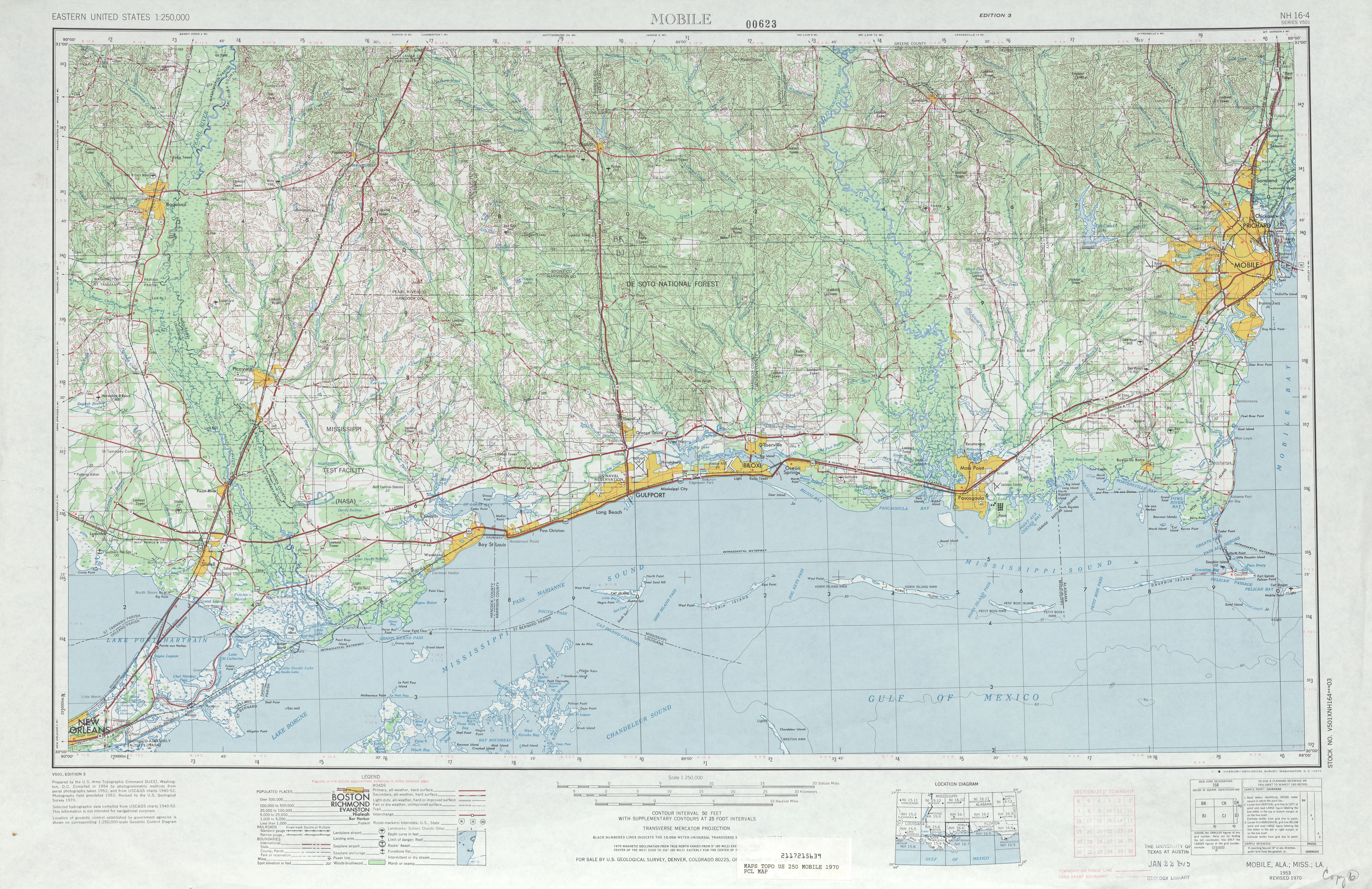 Alabama Topographic Maps - Perry-Castañeda Map Collection ...