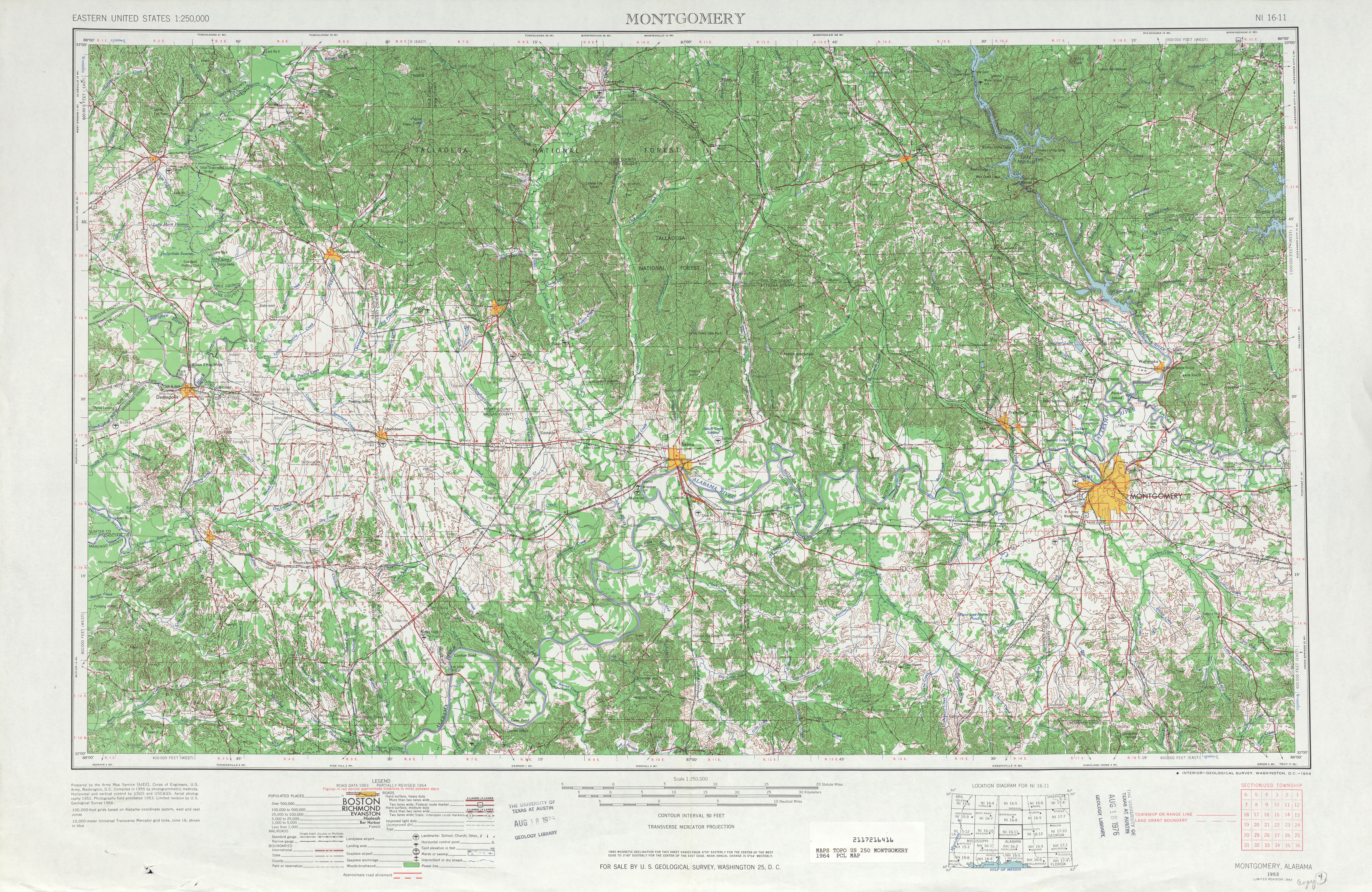Alabama Topographic Maps PerryCastaeda Map Collection UT