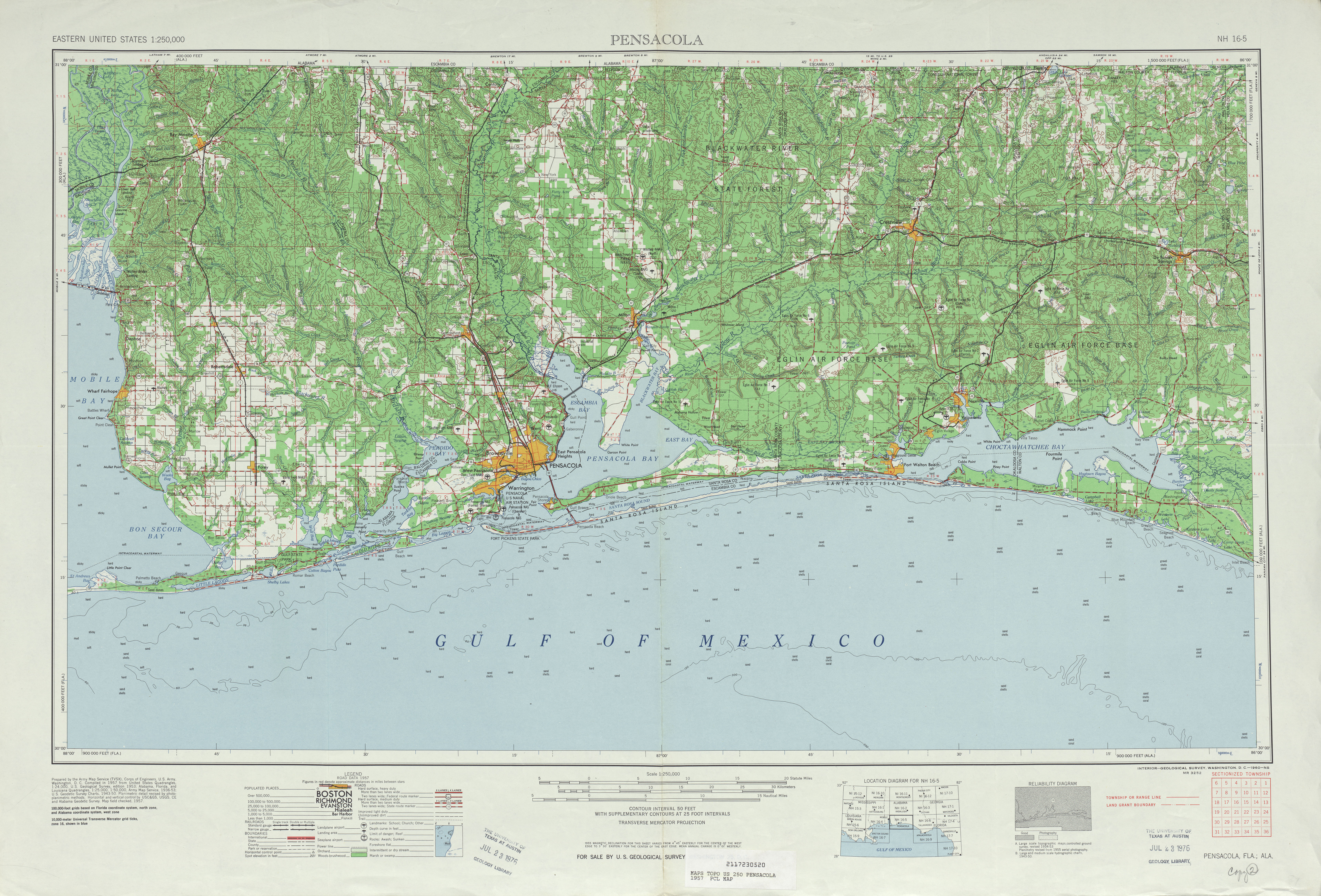 Map Pensacola Florida.Florida Historical Topographic Maps Perry Castaneda Map Collection