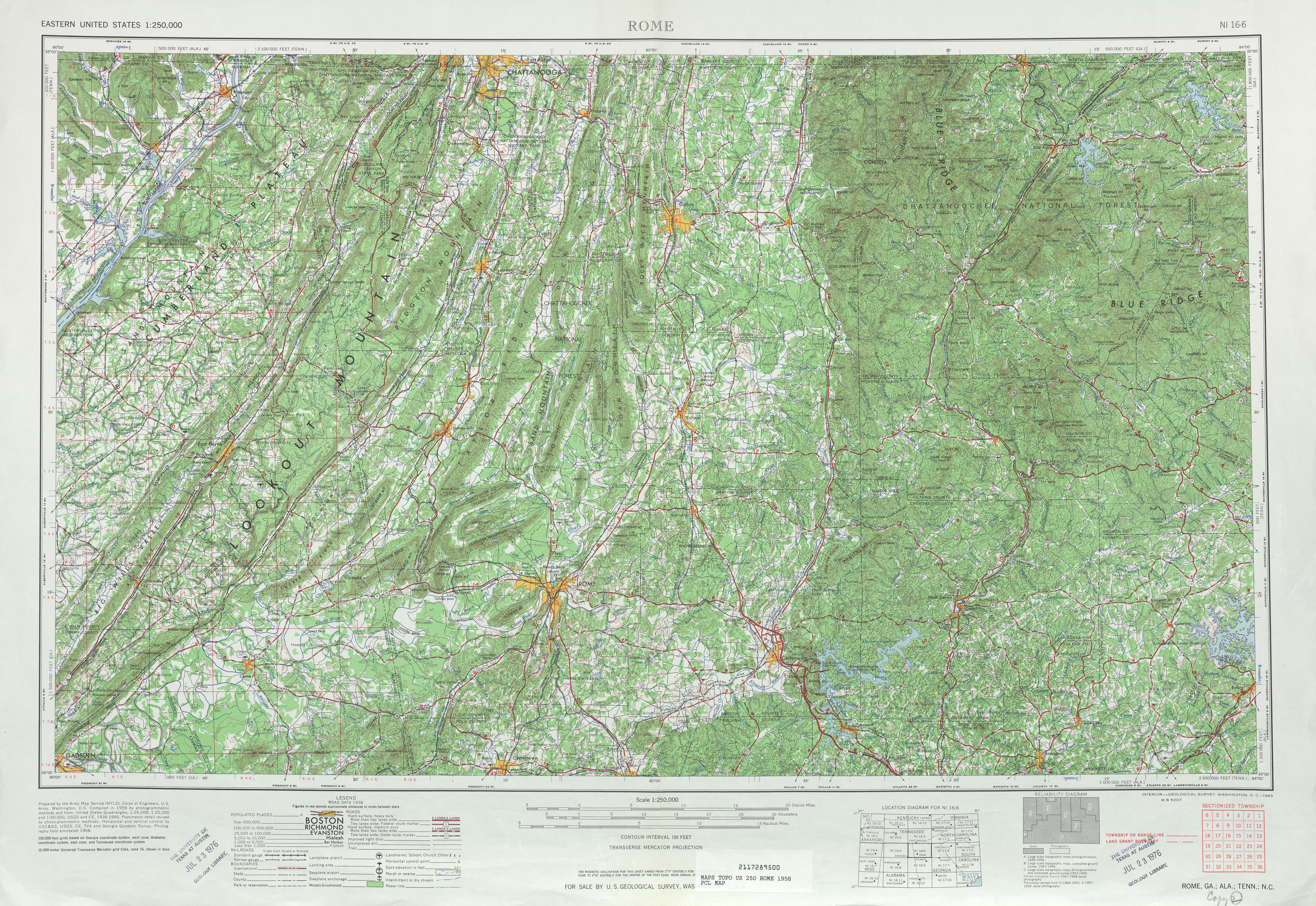 Tennesse Historical Topographic Maps PerryCastañeda Map - Eastern us topographic map