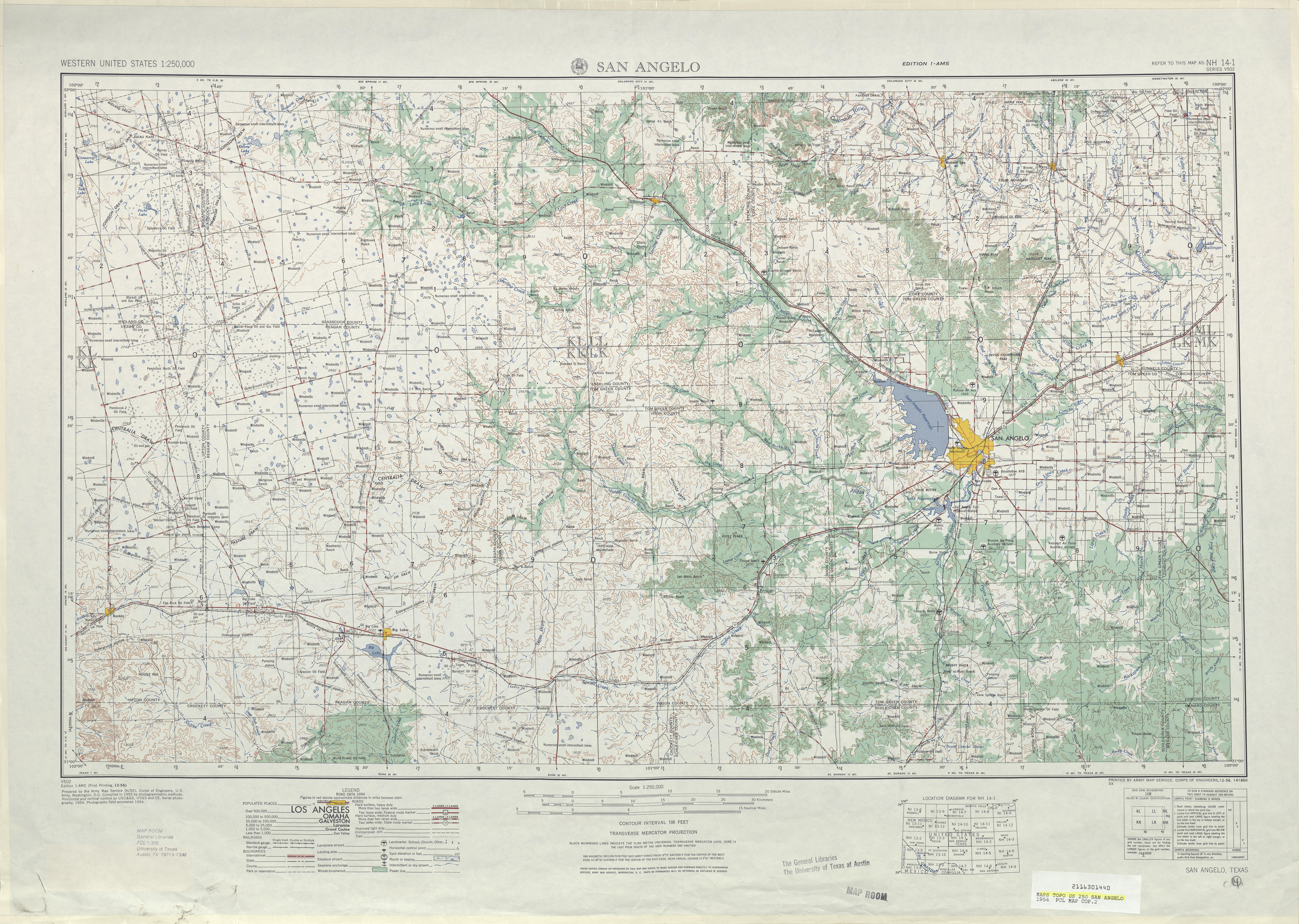 texas topographic maps perry castaneda map collection ut library online
