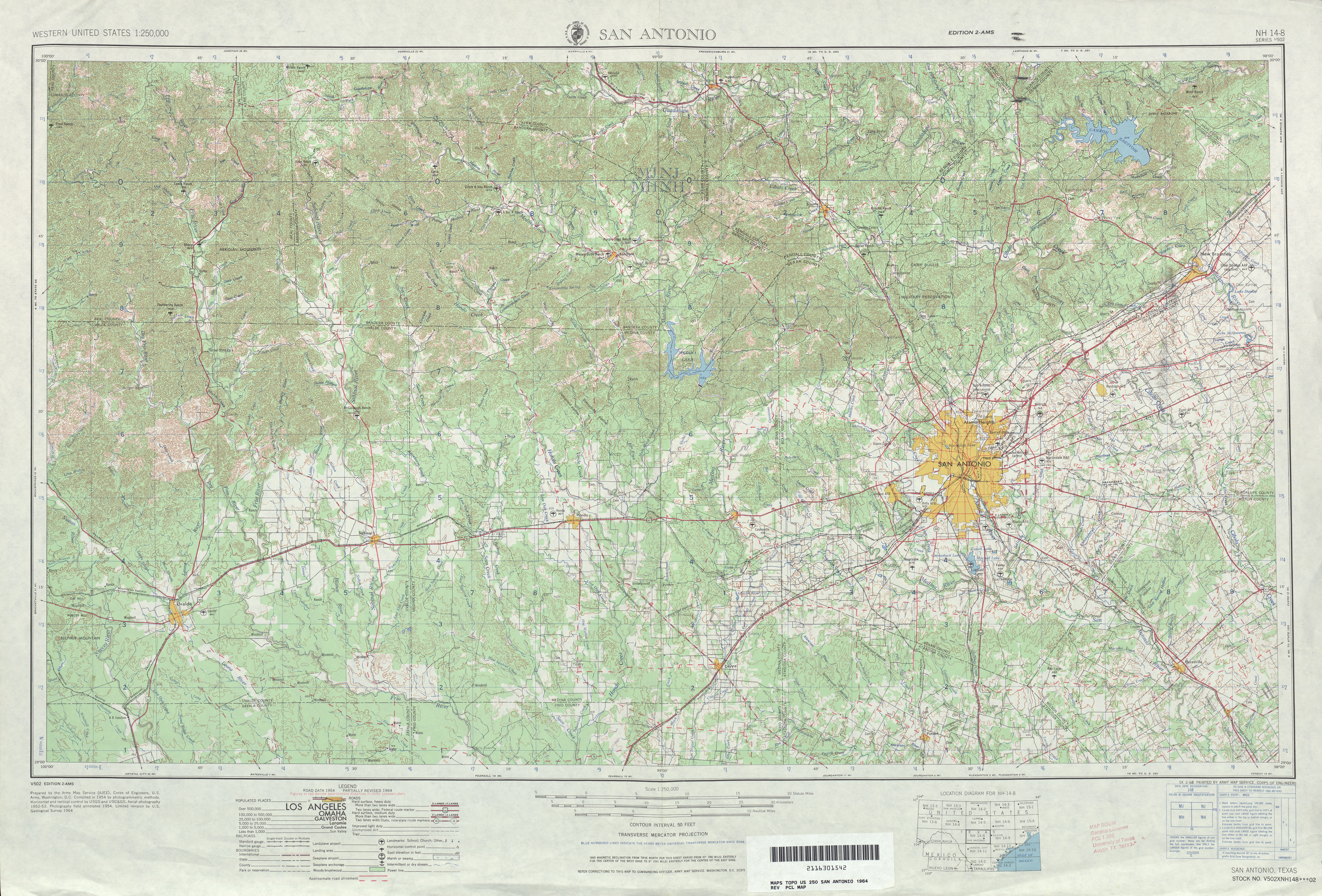 Texas Topographic Maps PerryCastañeda Map Collection UT - 1 50000 topo map us military