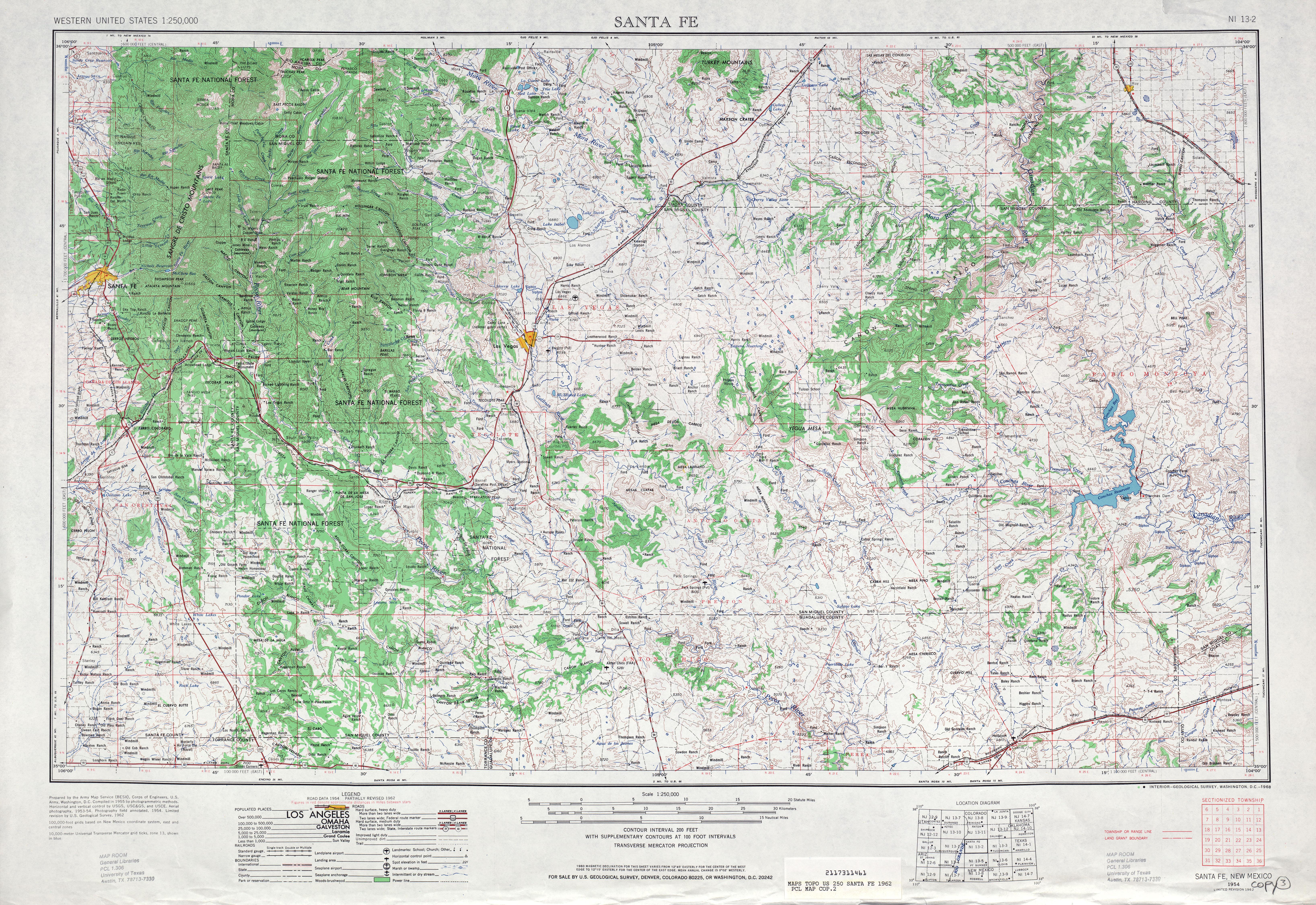 United States Map Santa Fe