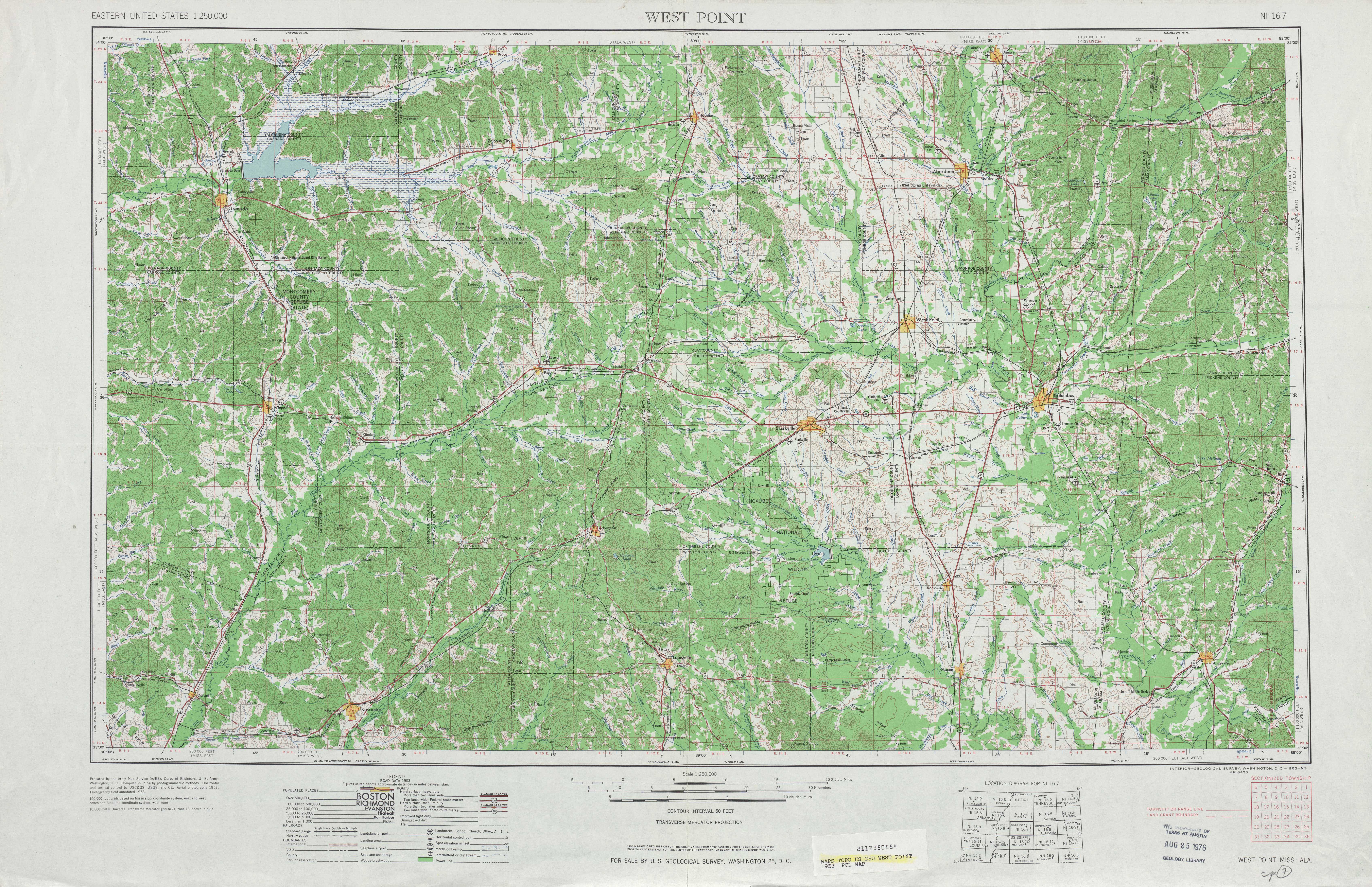 Mississippi Topographic Maps PerryCastañeda Map Collection UT - Us map west of the mississippi