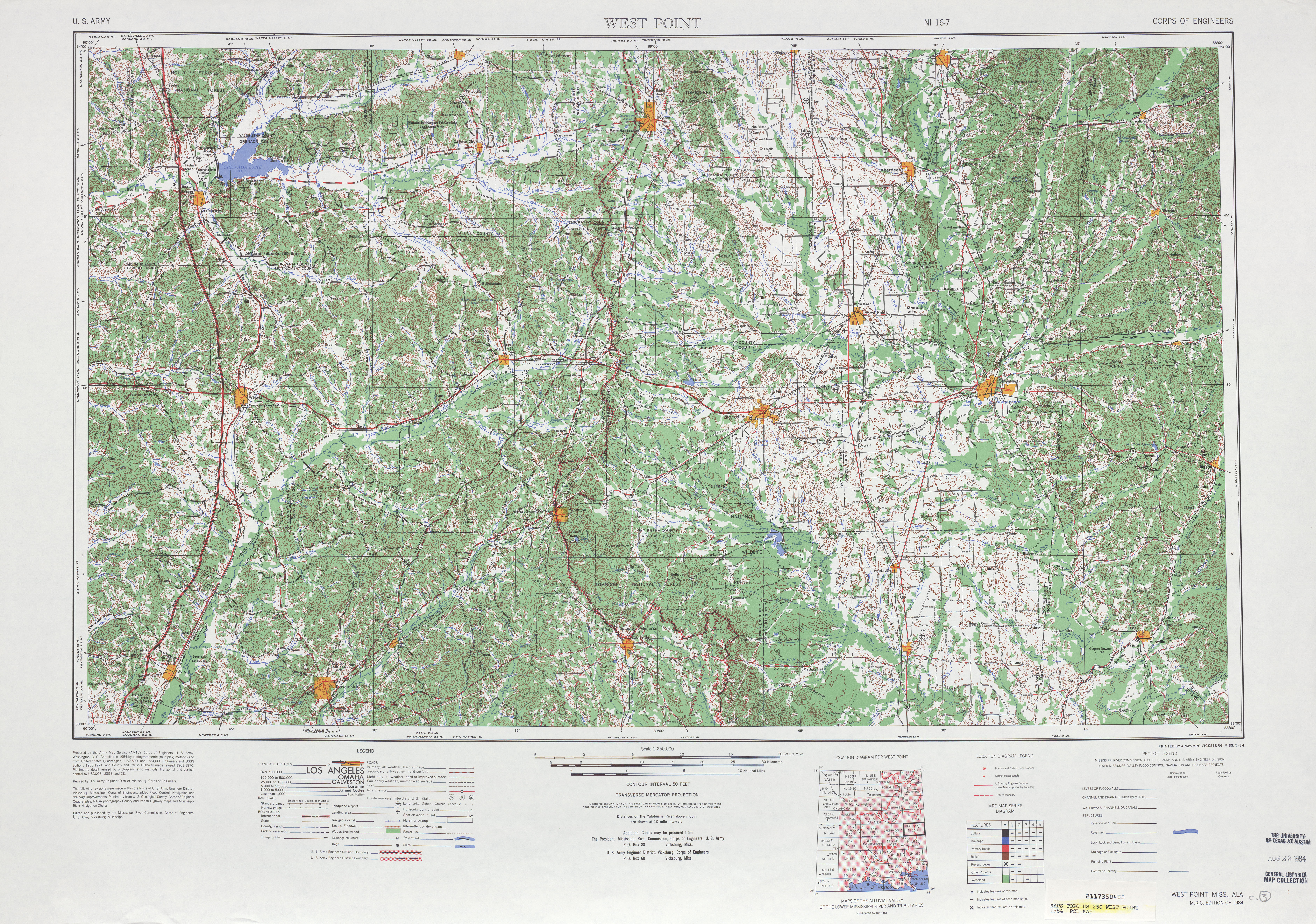 Mississippi Topographic Maps PerryCastañeda Map Collection UT - Topographic map of western us
