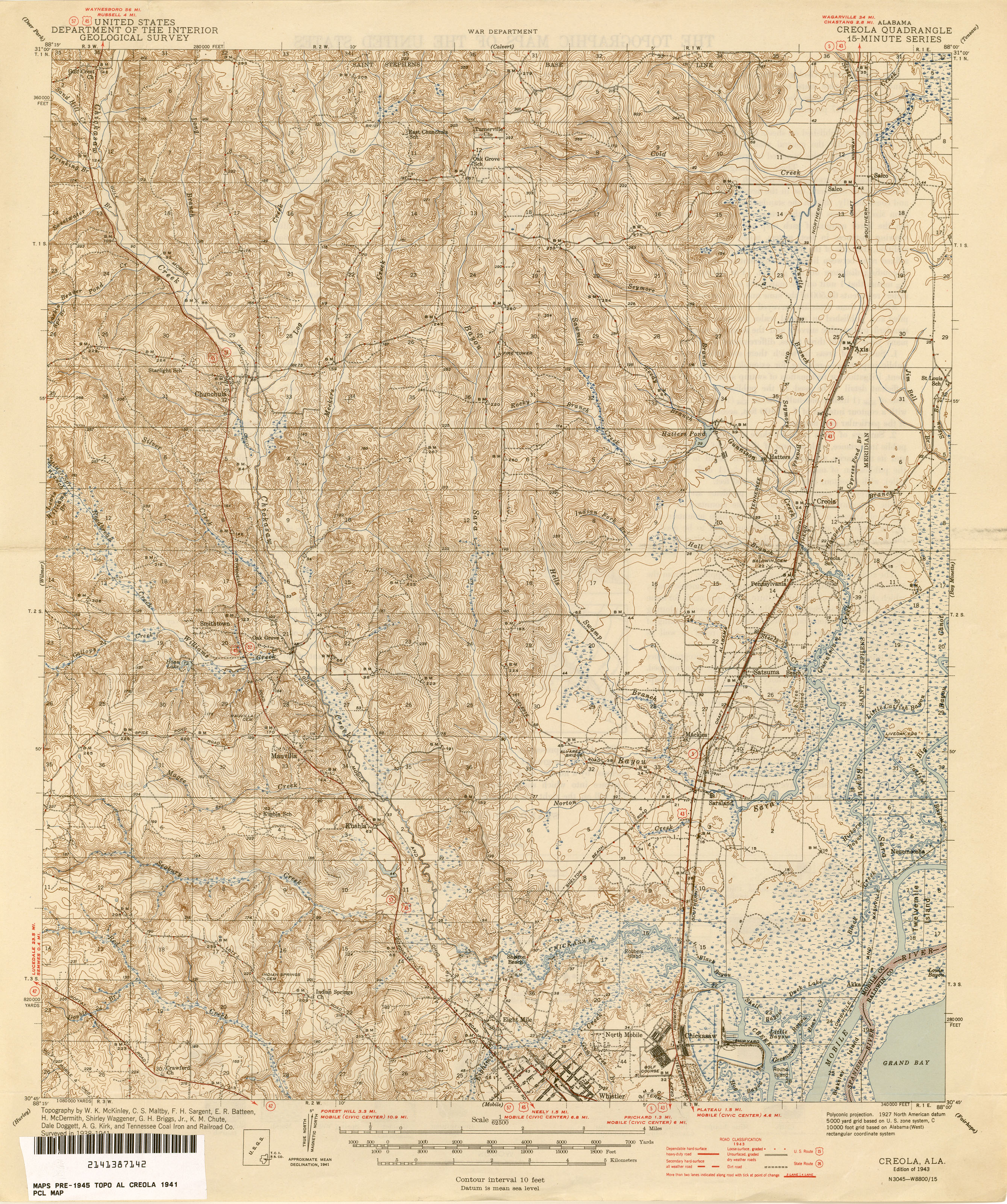 Alabama Topographic Maps PerryCastañeda Map Collection UT - Al map