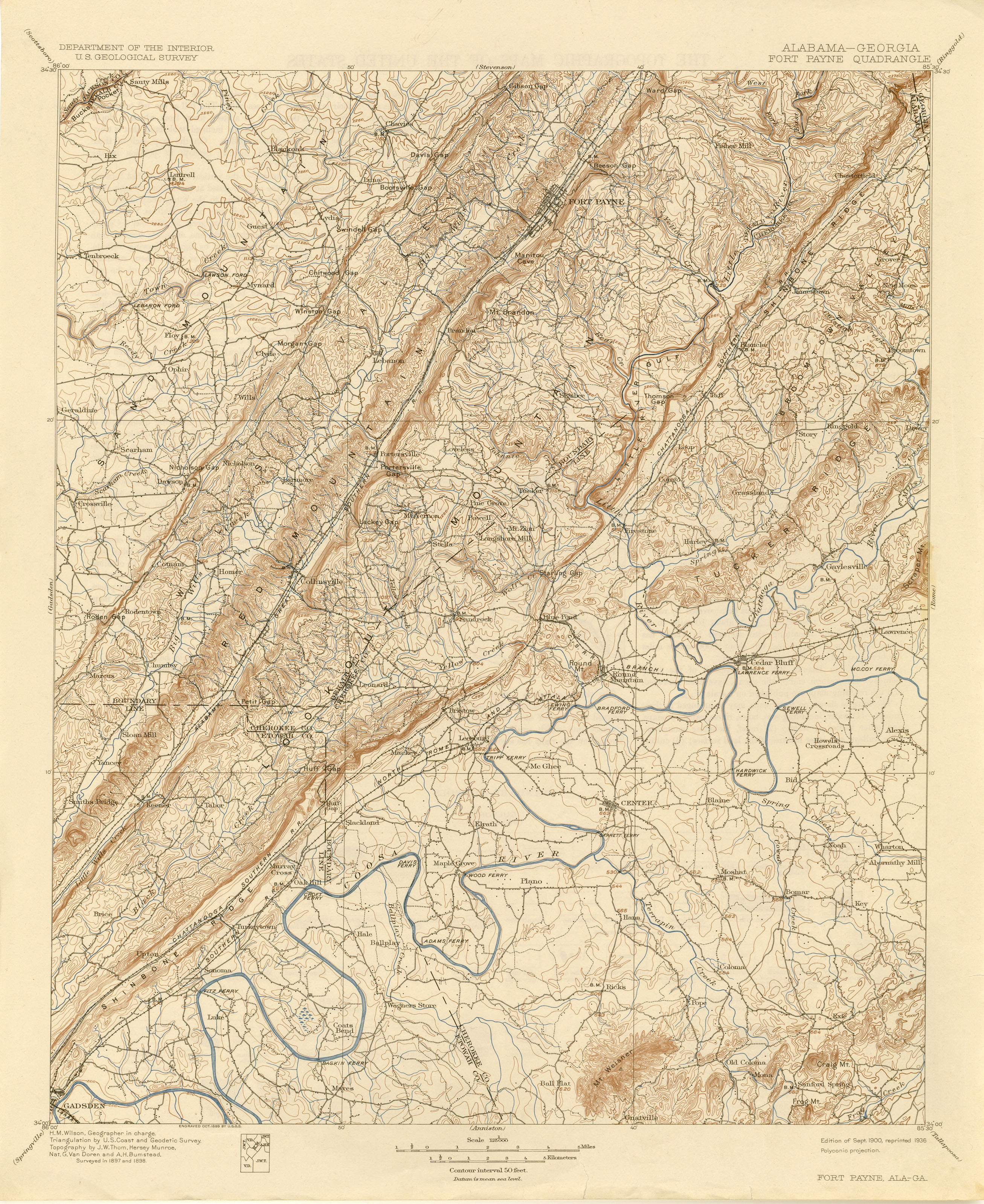 Georgia Historical Topographic Maps - Perry-Castañeda Map Collection ...