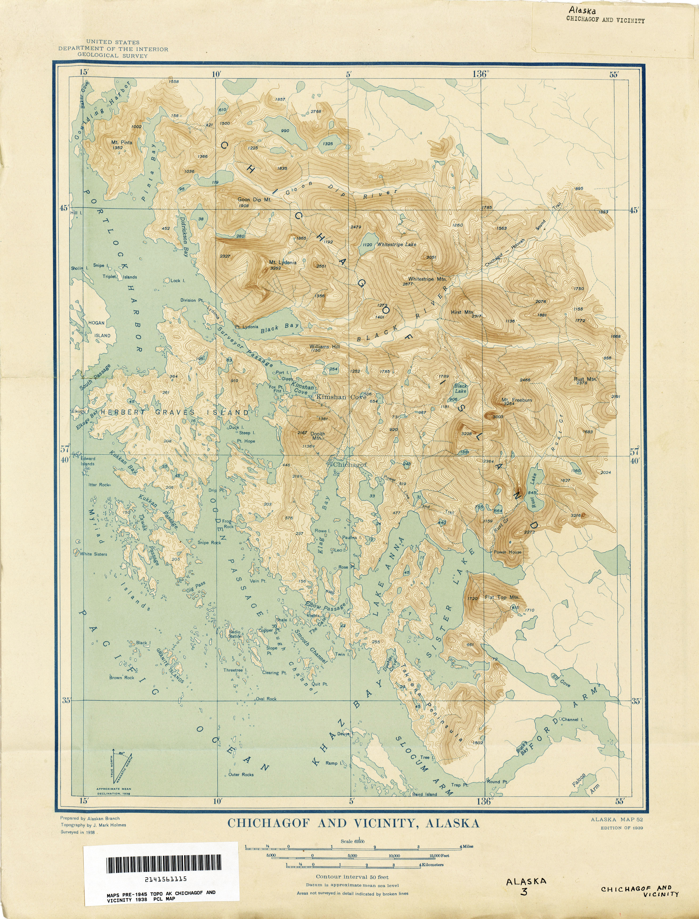 Alaska Historical Topographic Maps - Perry-Castañeda Map Collection ...