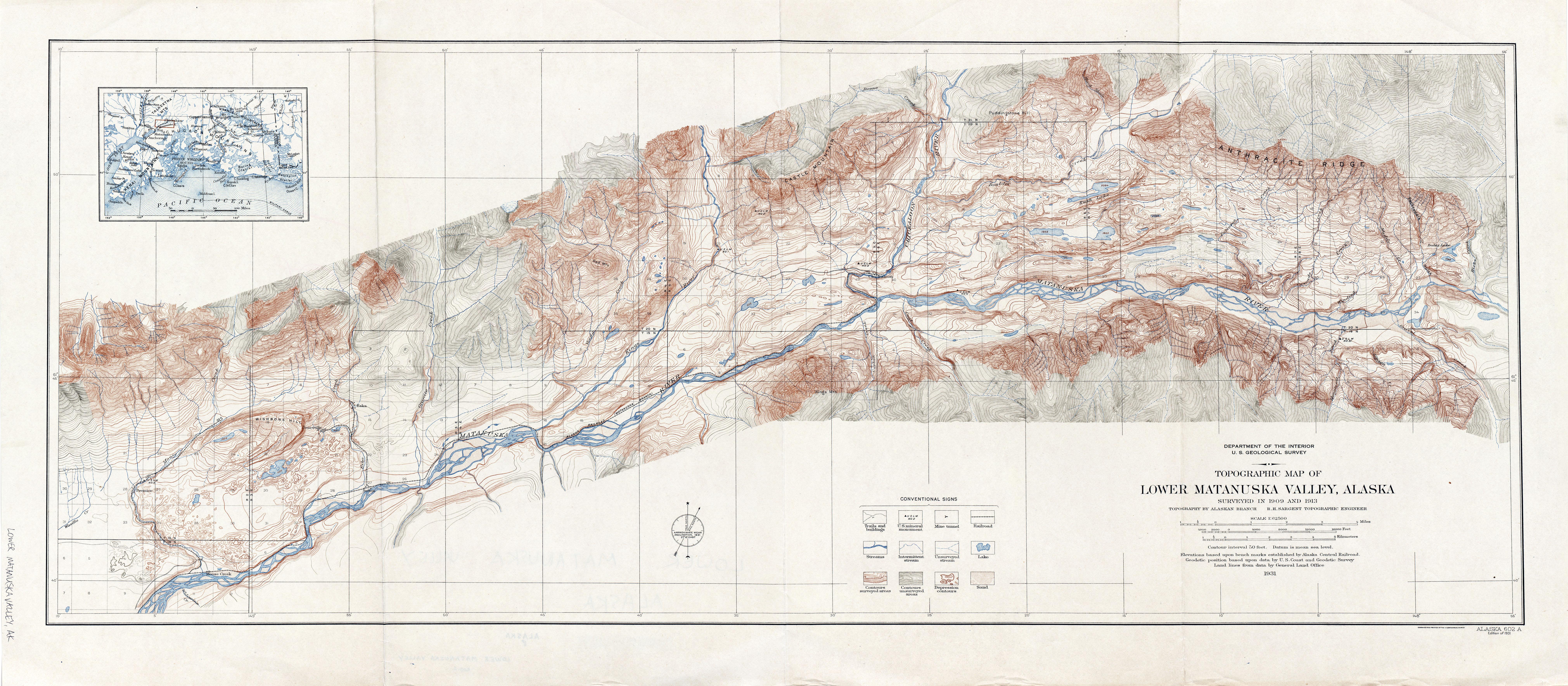 Alaska Historical Topographic Maps PerryCastañeda Map Collection - Alaska topo maps