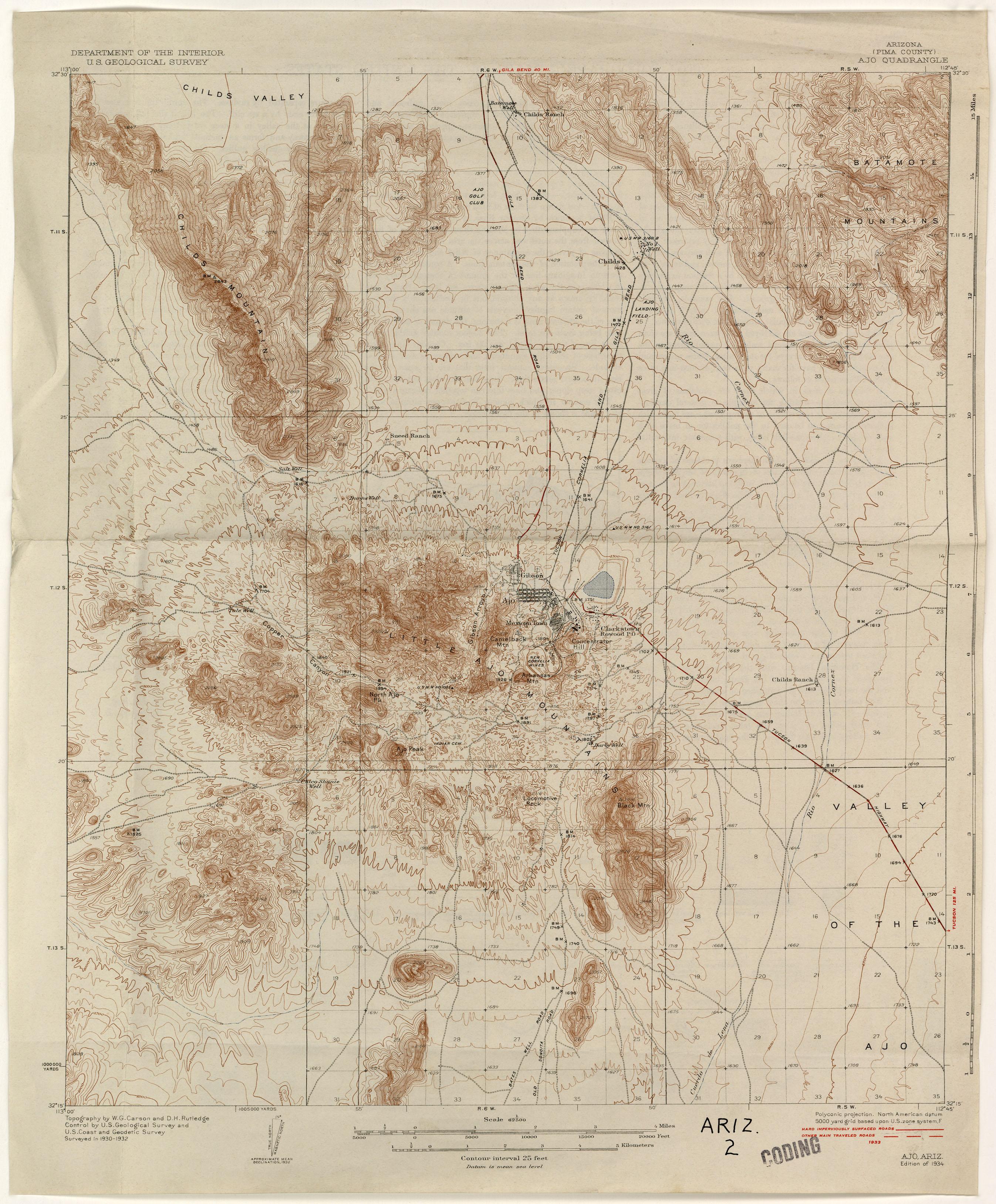 Arizona Historical Topographic Maps PerryCastañeda Map - Arizona maps