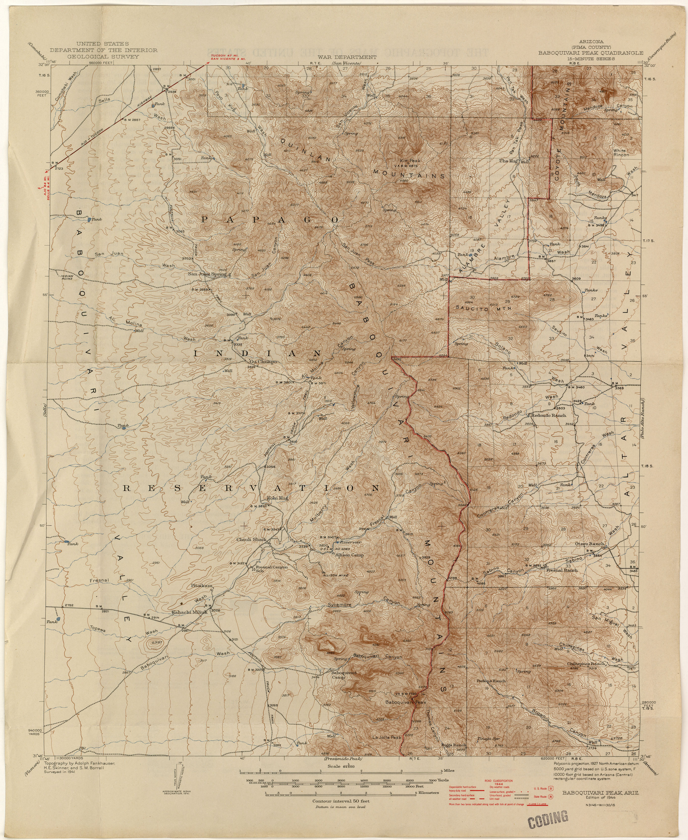 Arizona Historical Topographic Maps PerryCastañeda Map - Historical map of bell telephone coverage in the us
