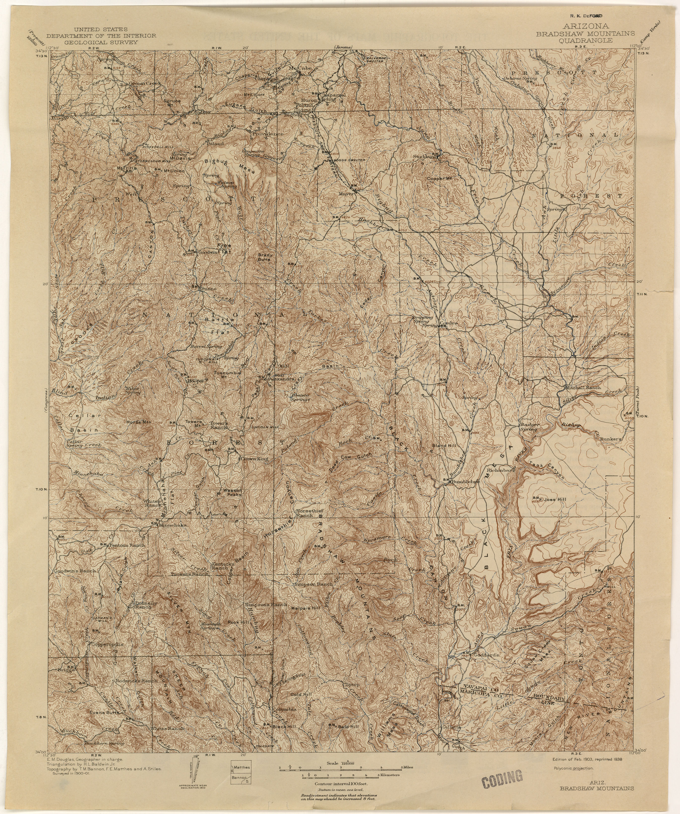 Map Of Arizona Indian Ruins.Arizona Historical Topographic Maps Perry Castaneda Map Collection