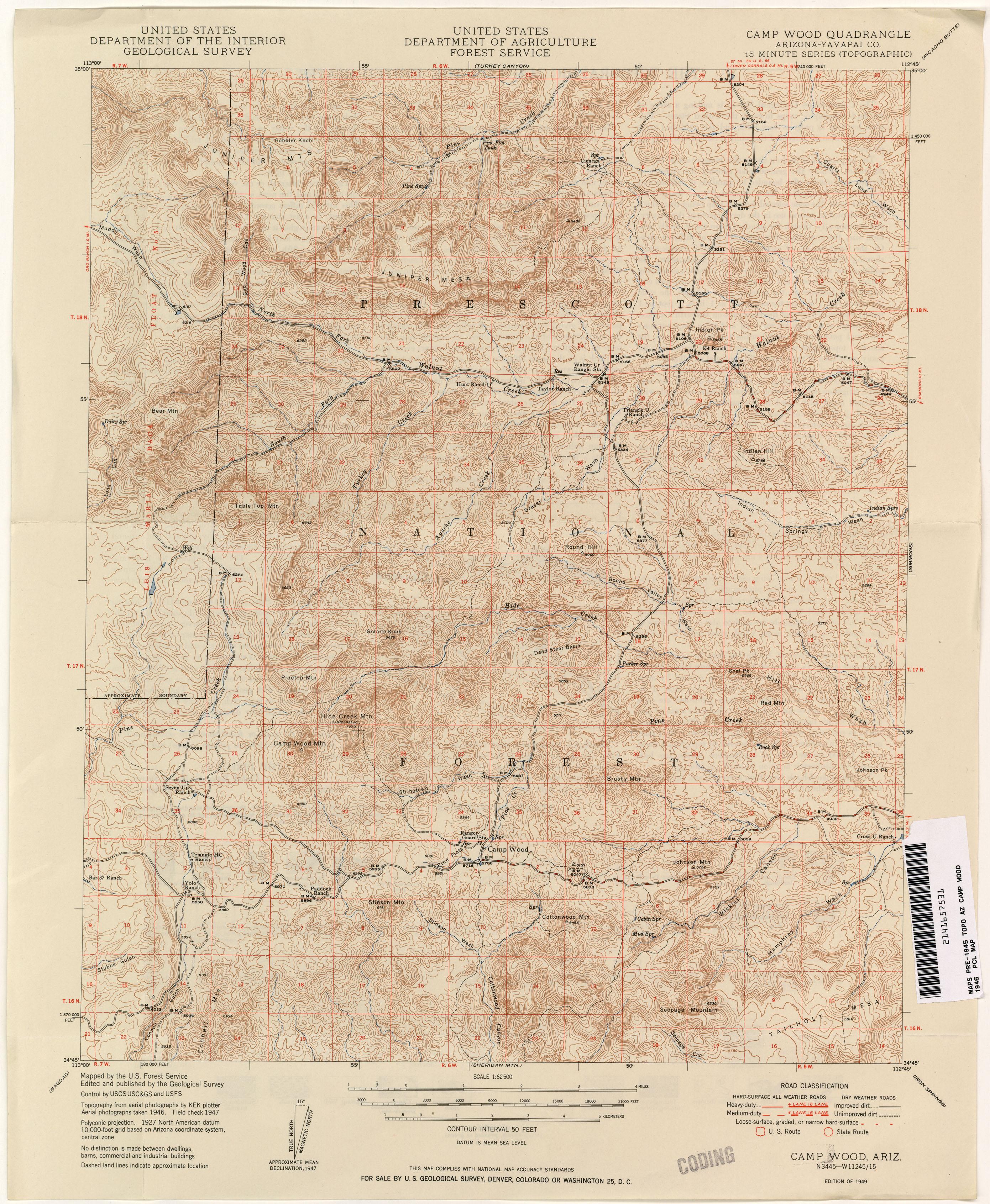 Arizona Historical Topographic Maps PerryCastañeda Map - Topographic map of arizona
