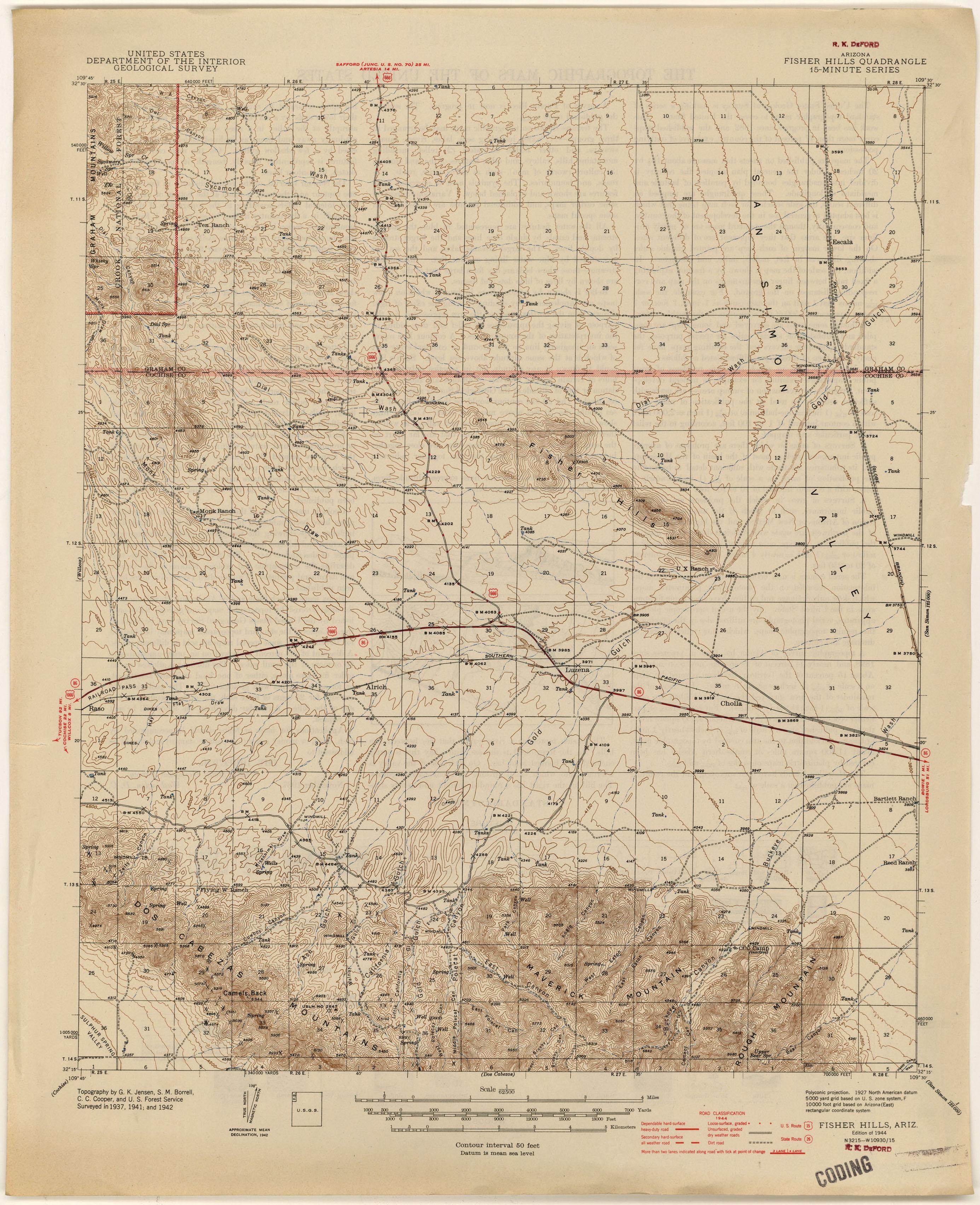 Arizona Historical Topographic Maps PerryCastañeda Map - Topo maps us forest service