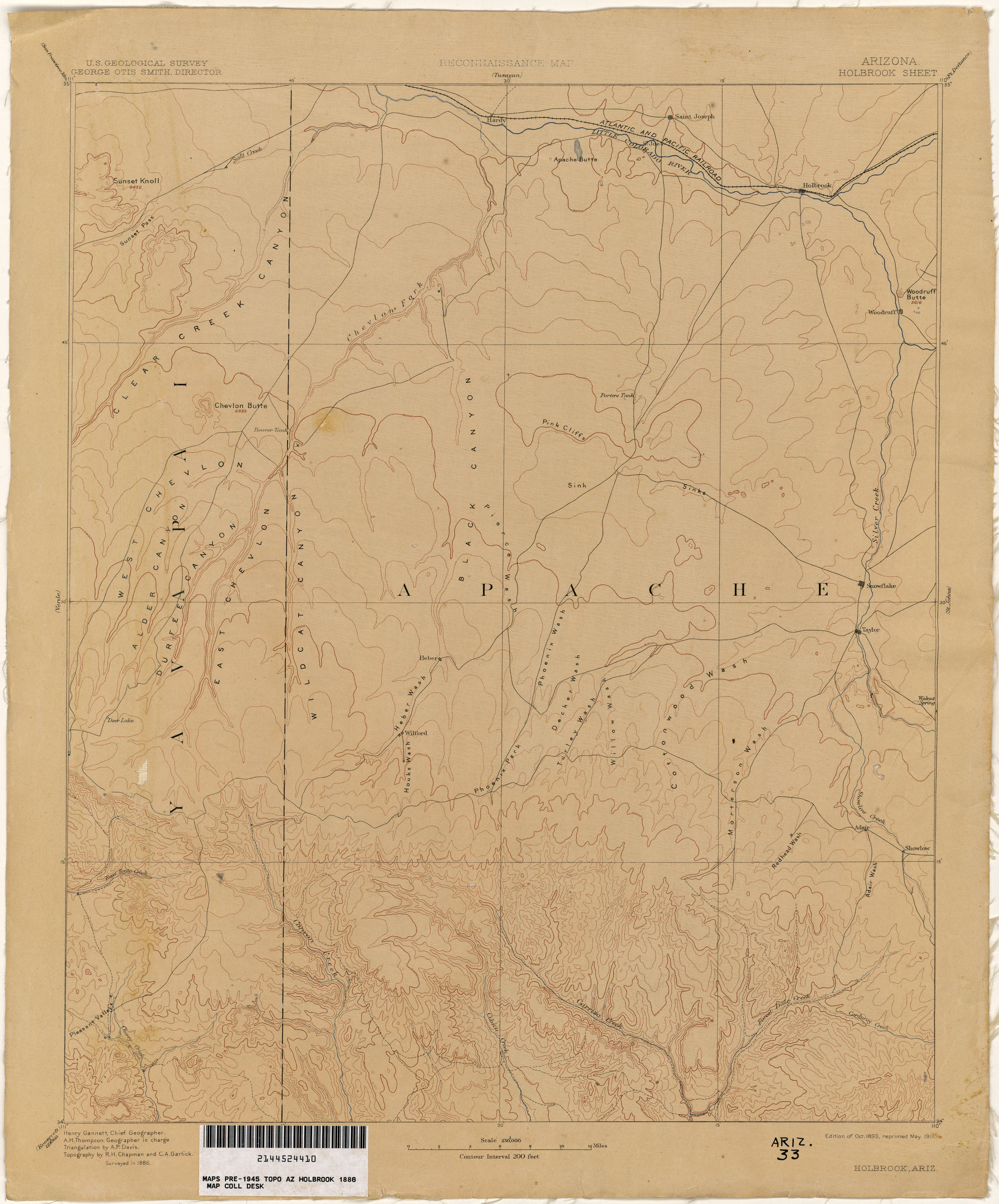 Map Of Saint Johns Arizona.Arizona Historical Topographic Maps Perry Castaneda Map Collection