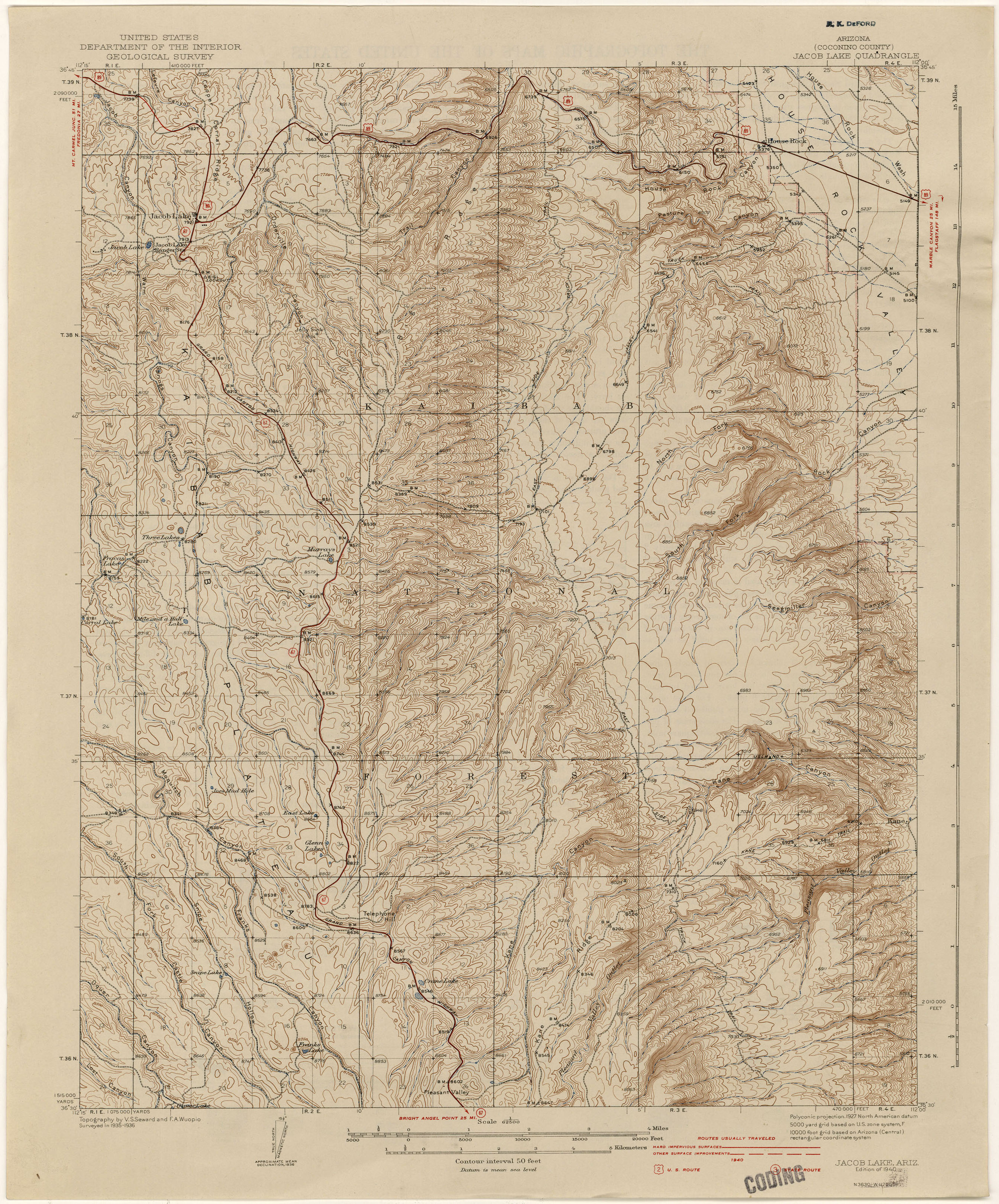 Arizona Historical Topographic Maps   Perry Castañeda Map