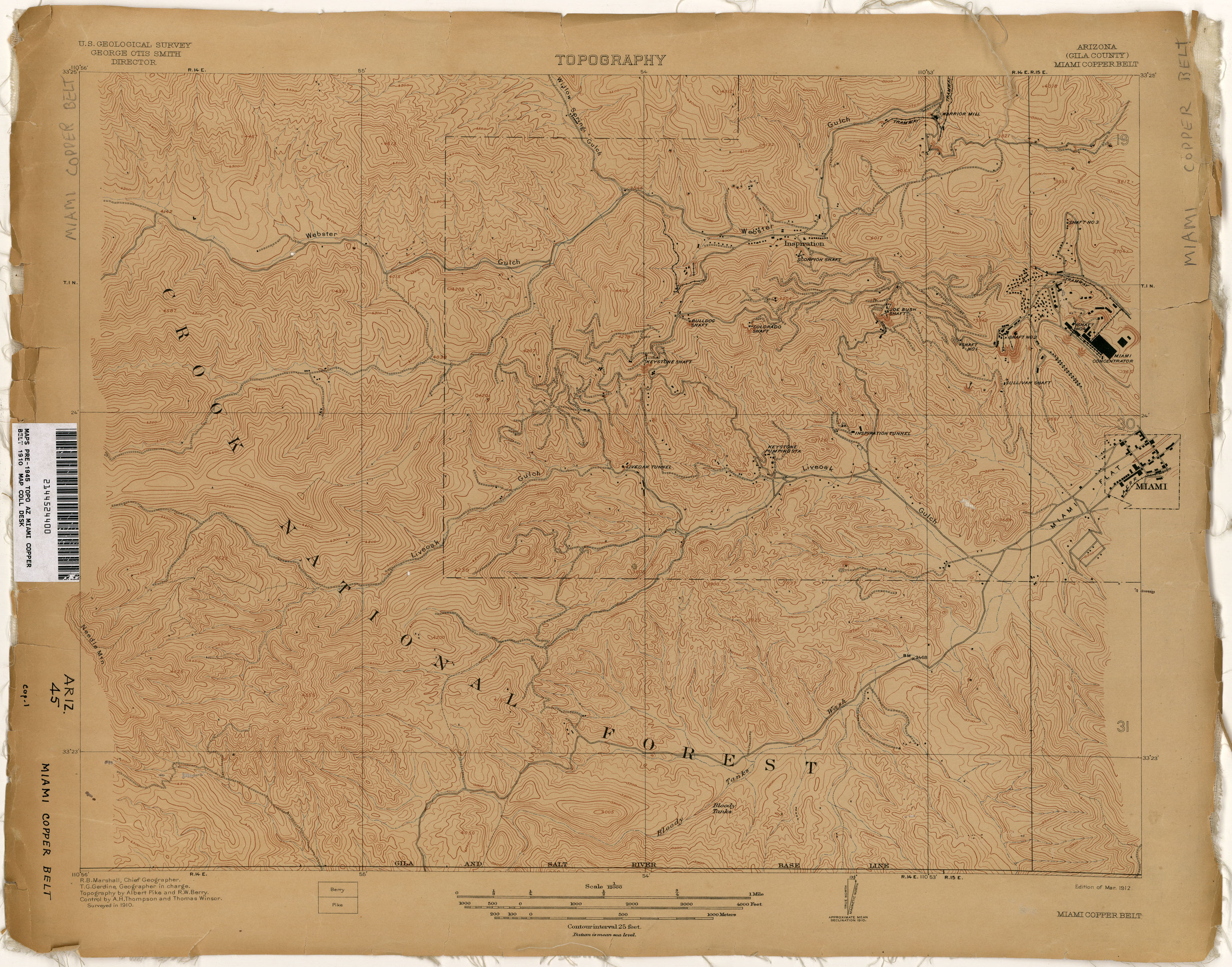 Arizona Historical Topographic Maps PerryCastañeda Map - Arizona topographic map