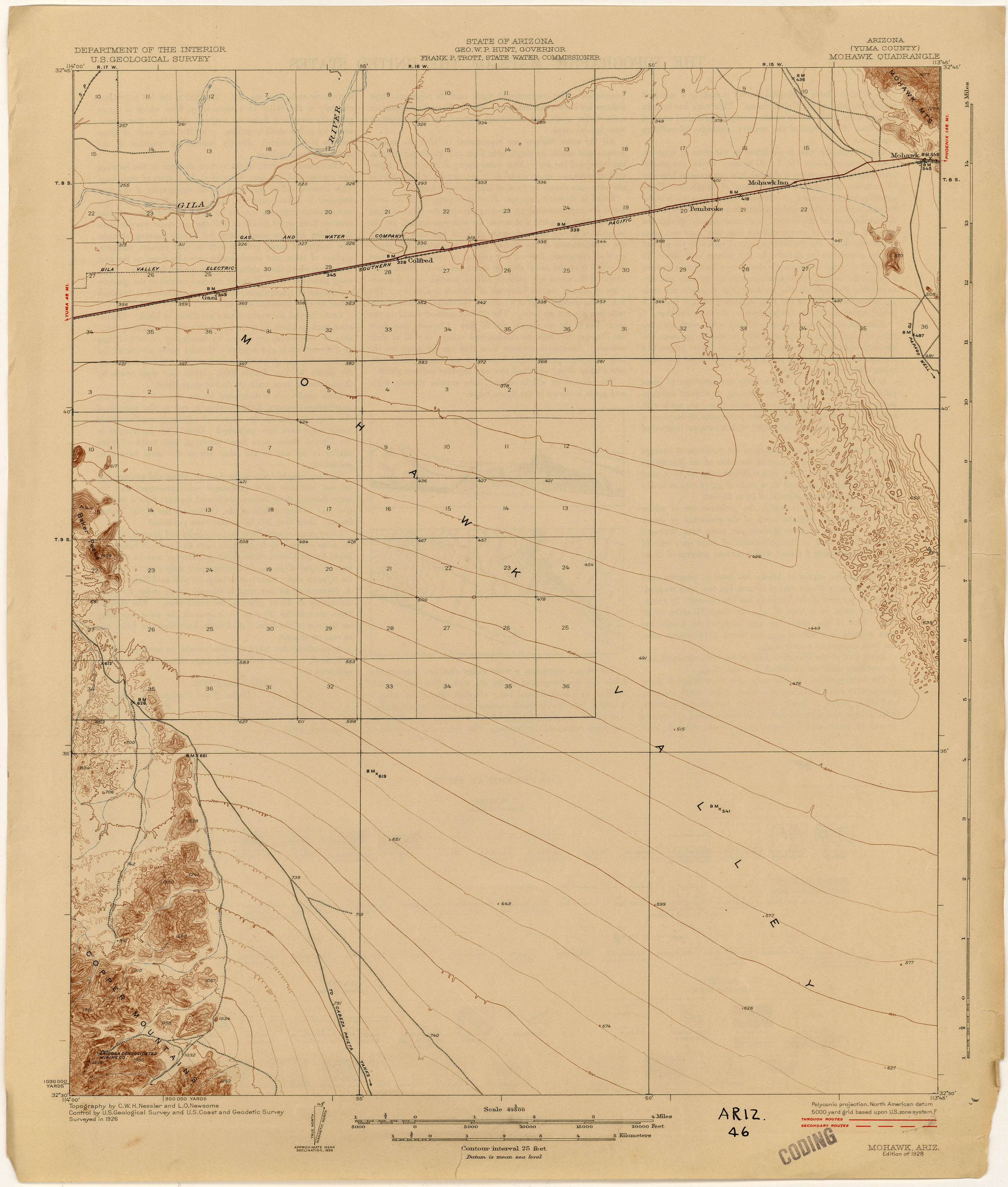 arizona historical topographic maps