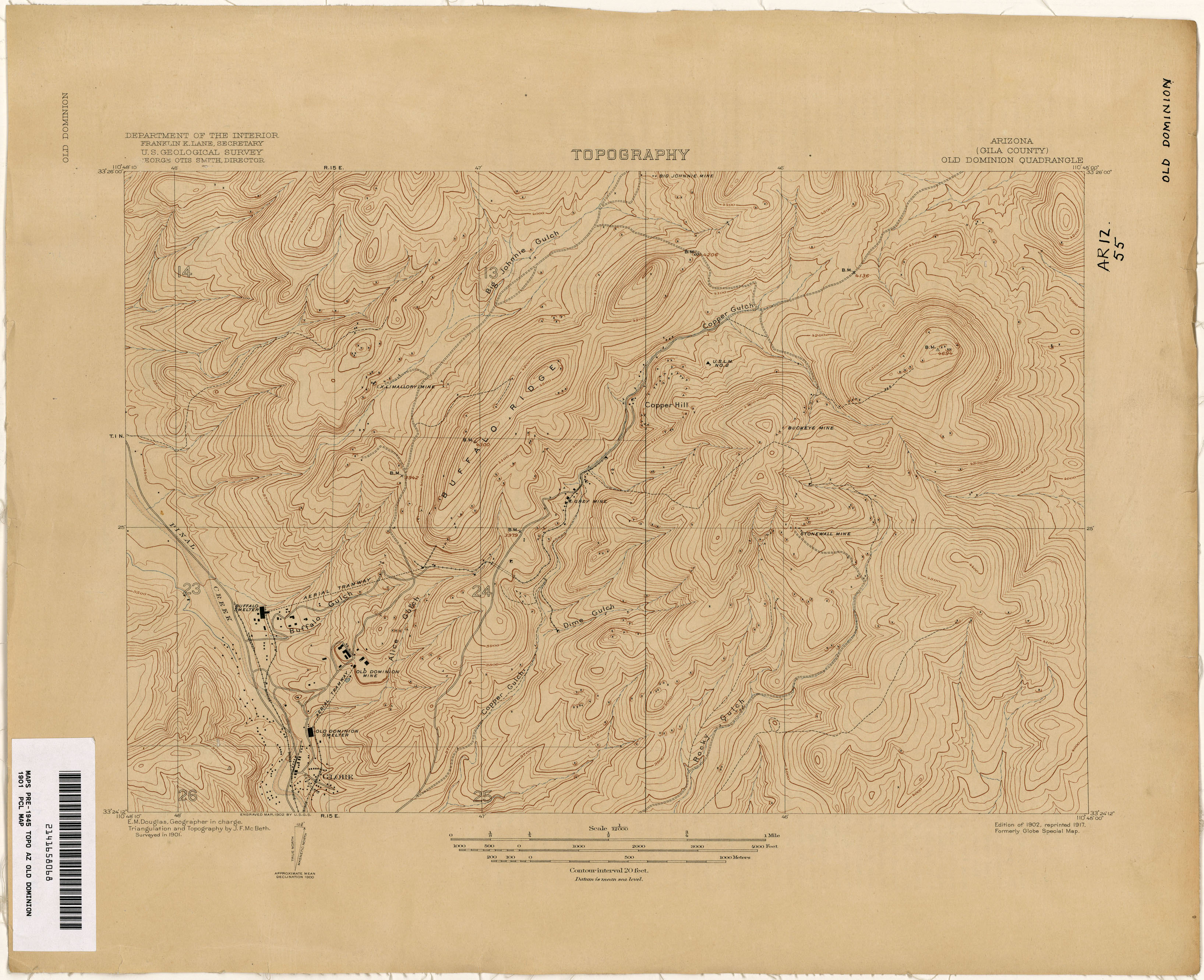 Map Of Old Arizona.Arizona Historical Topographic Maps Perry Castaneda Map Collection