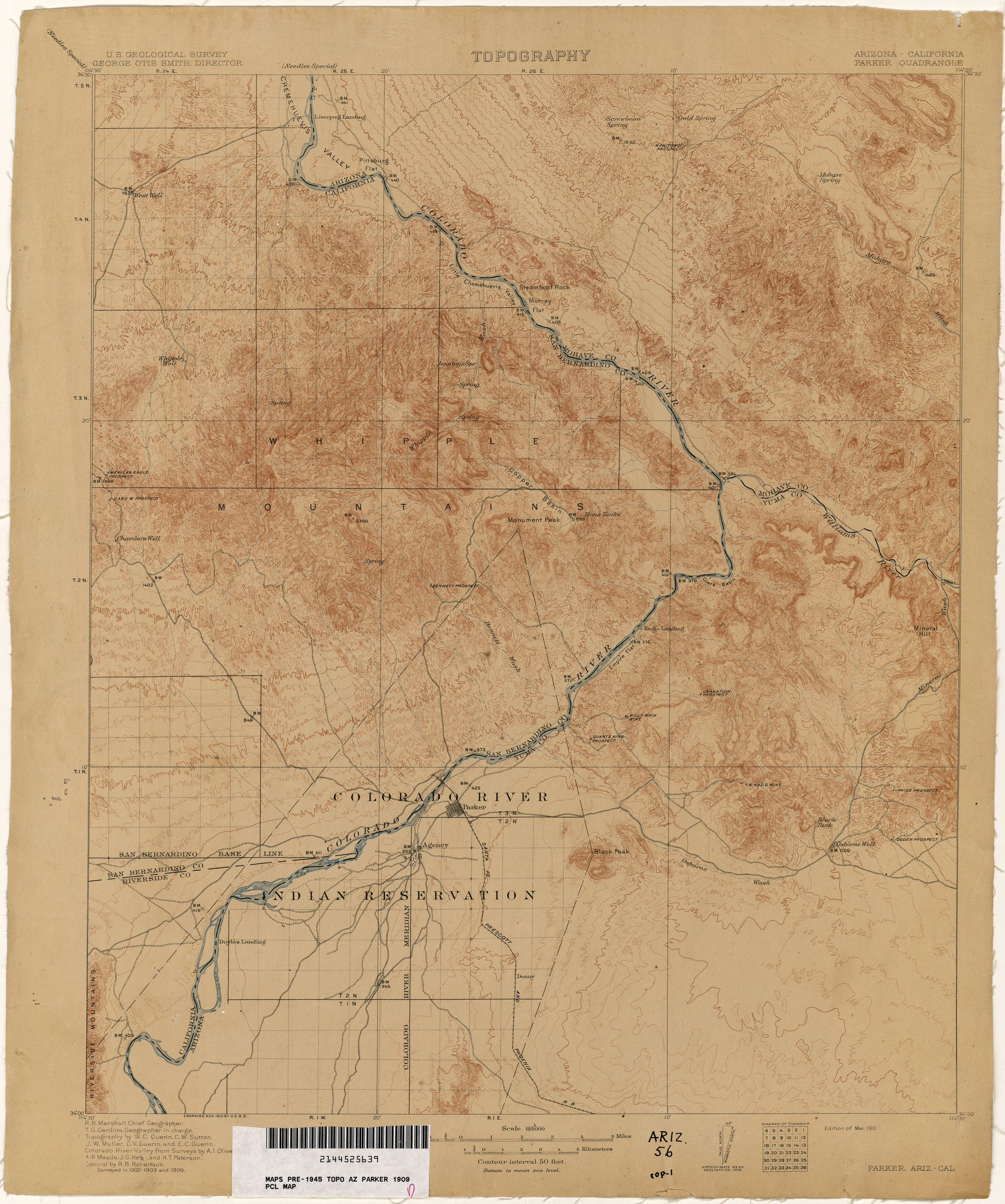 Arizona Historical Topographic Maps PerryCastañeda Map - Map of the arizona