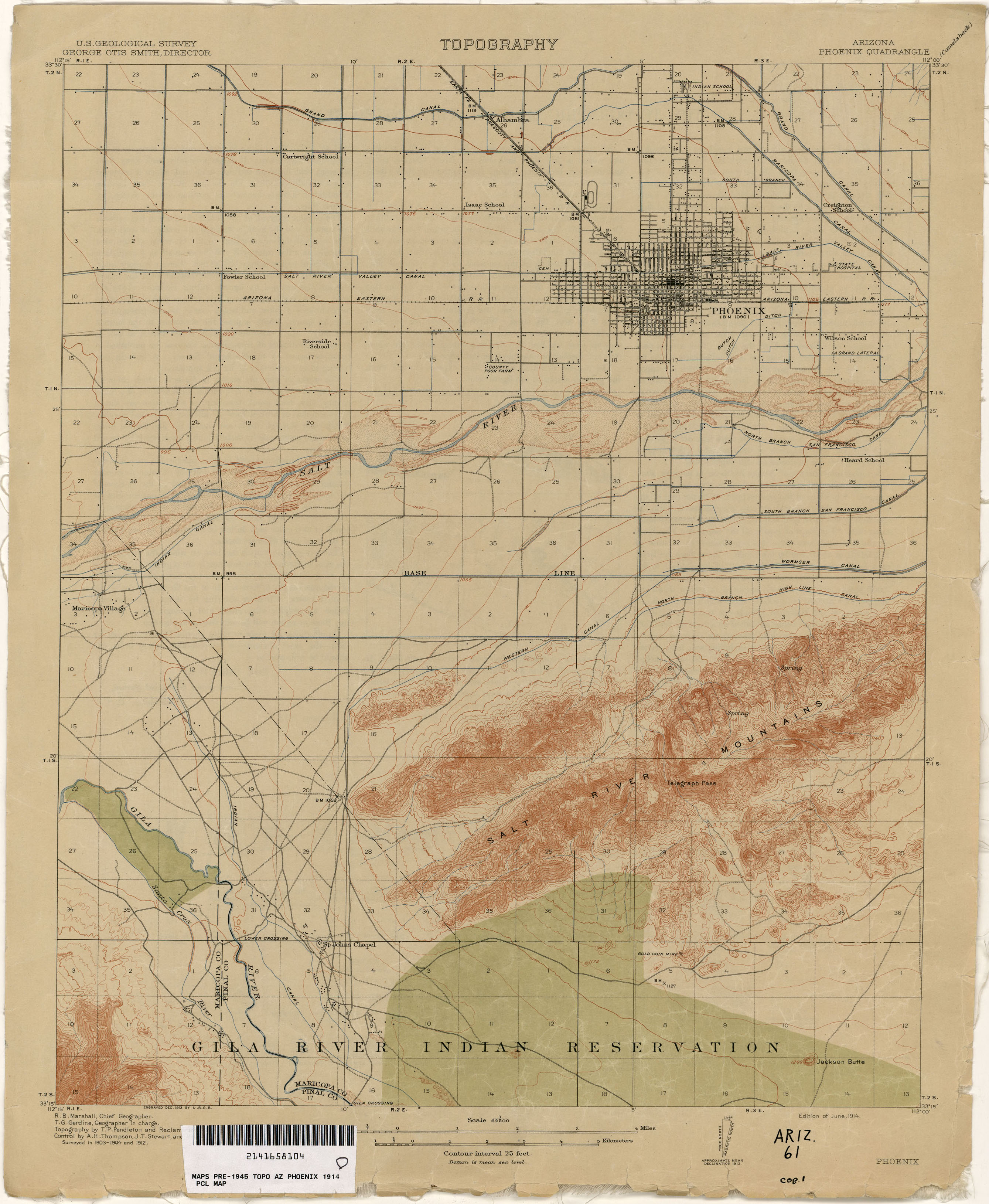 Arizona Historical Topographic Maps - Perry-Castañeda Map ...